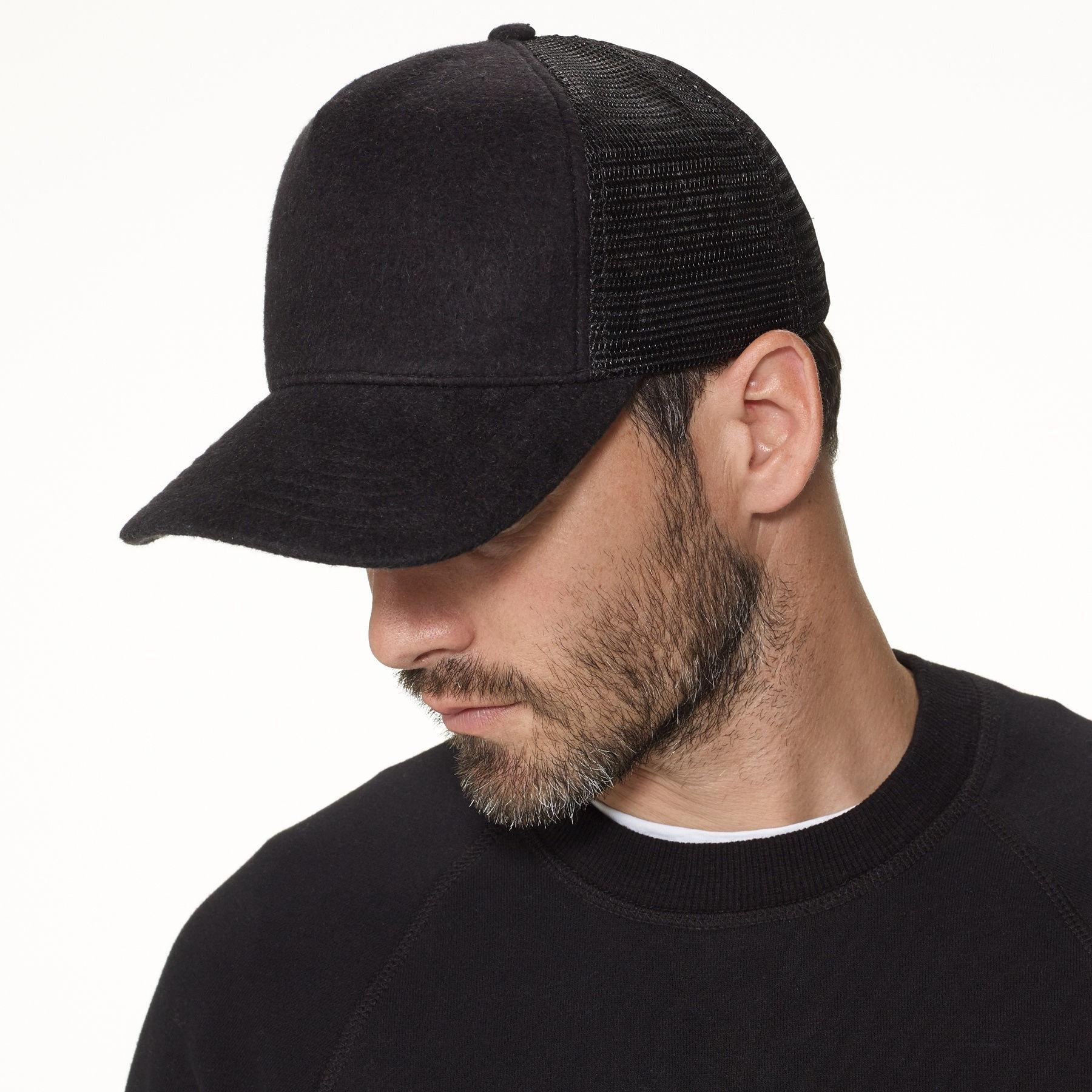 e0b17cef James Perse Double Face Knit Trucker Hat in Black for Men - Lyst