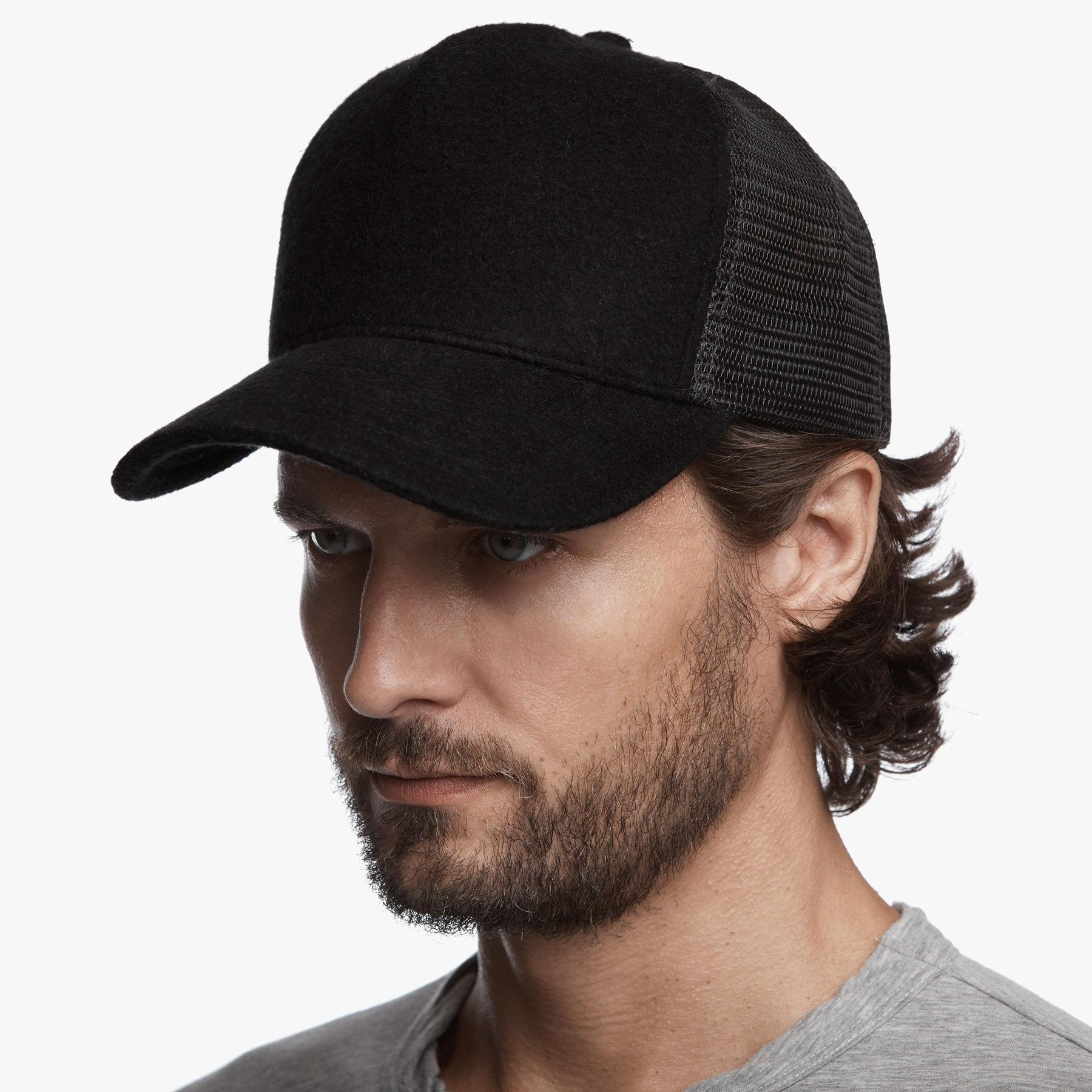 3b65b8b90a7 Lyst - James Perse Terry Trucker Hat in Black for Men