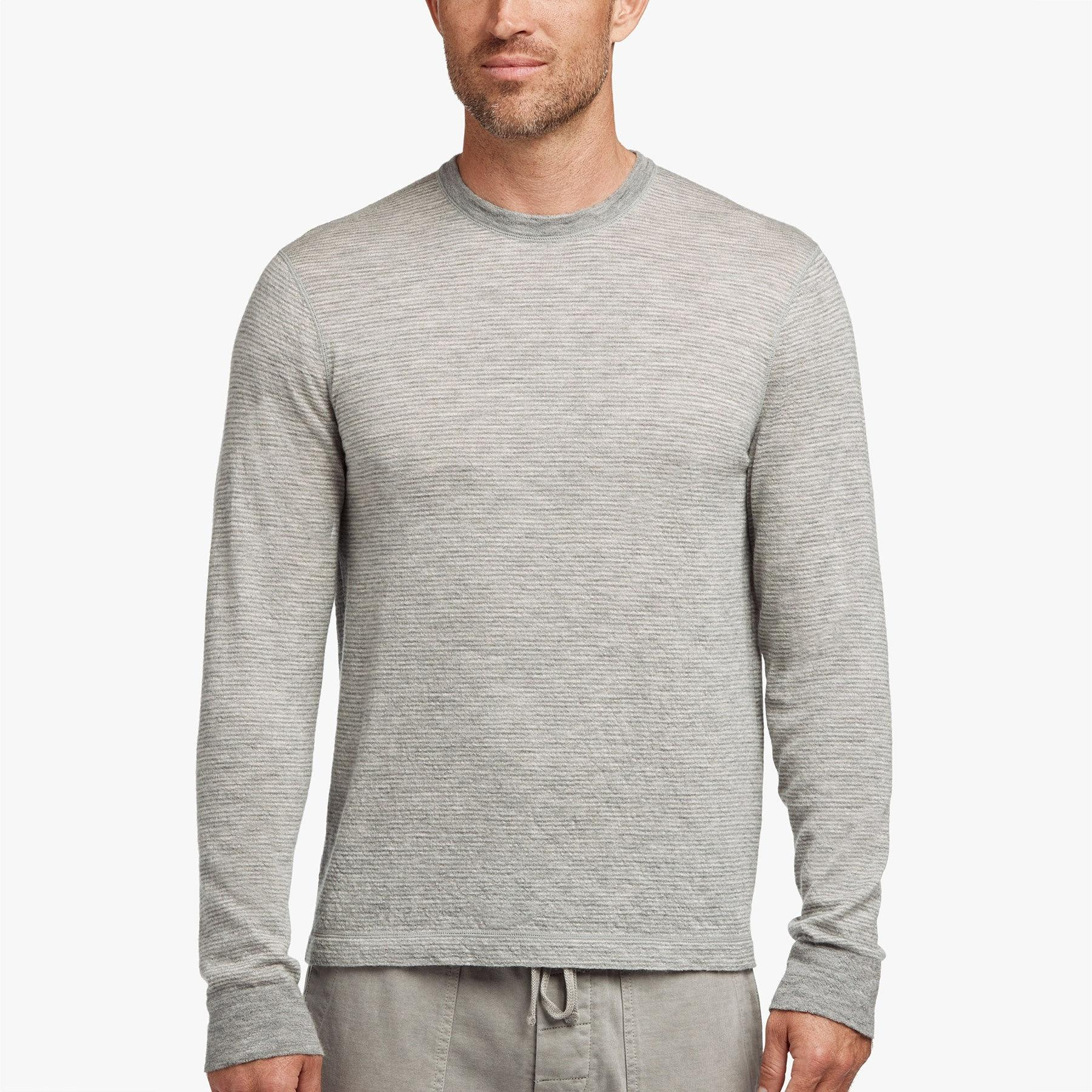 99cecdfcc Lyst - James Perse Micro Striped Cashmere Sweater in Gray for Men
