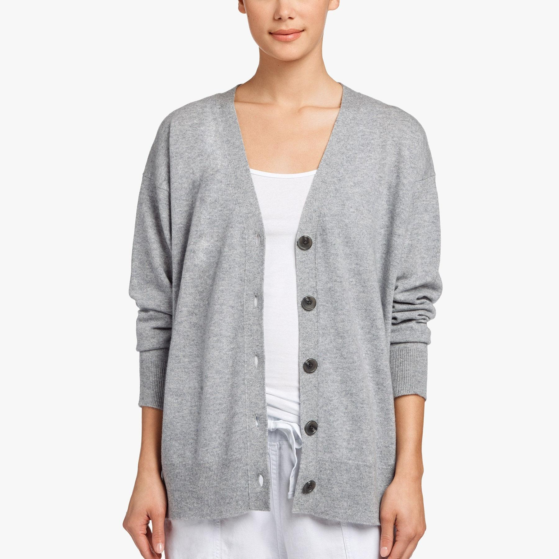 270d44289 Lyst - James Perse Baby Cashmere Cardigan in Gray