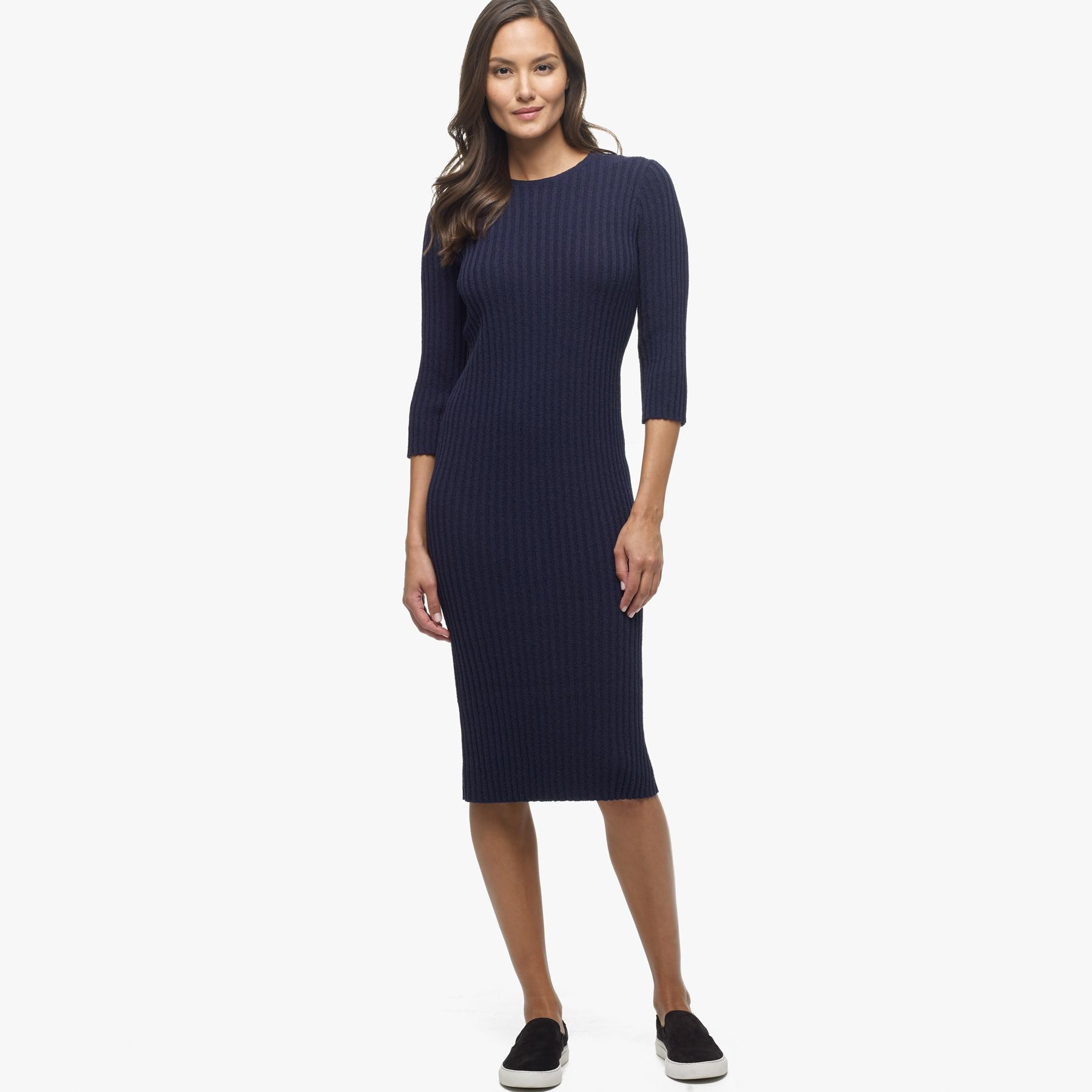 Lyst James Perse Cotton Terry Dress In Blue