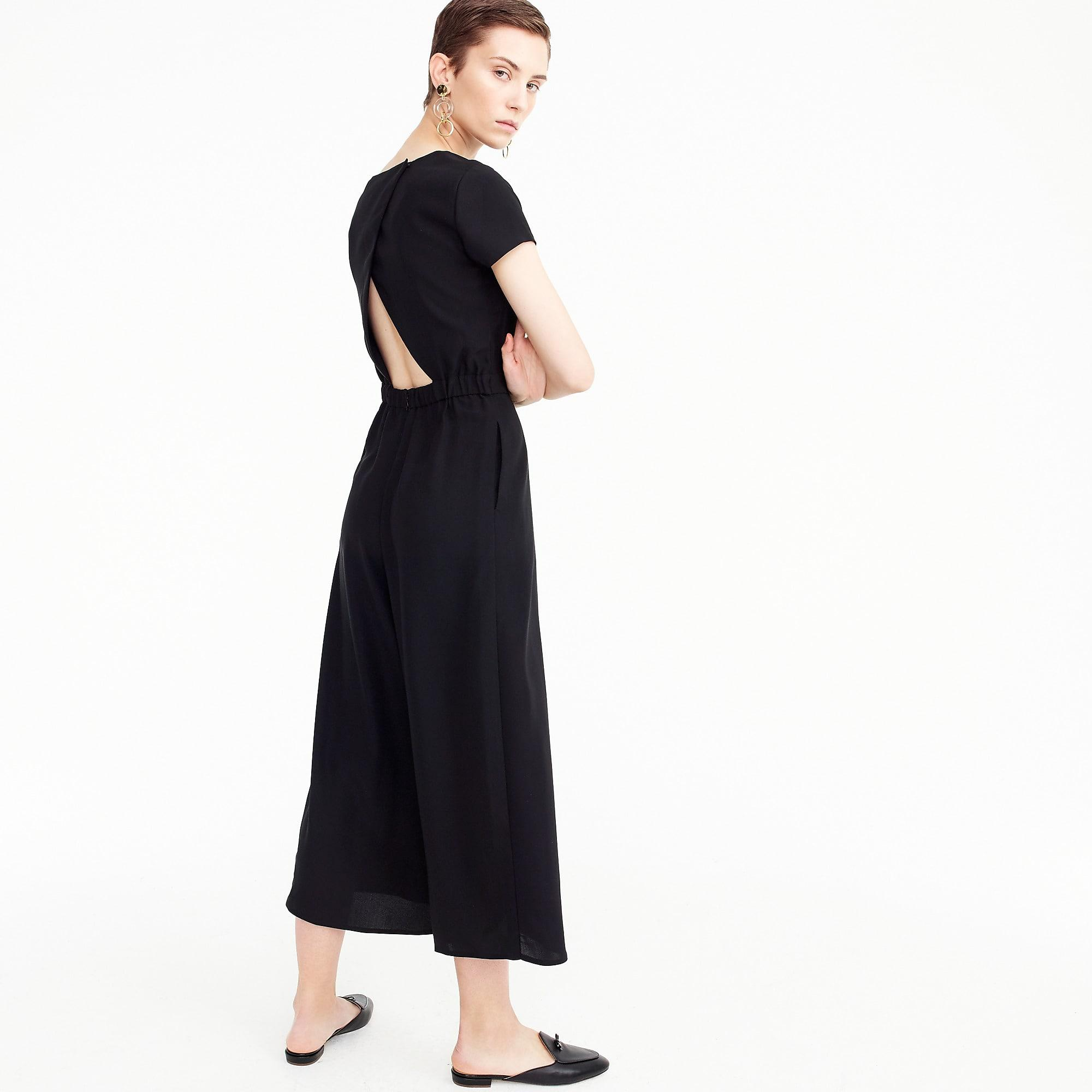 0779535ad69 J.Crew Drapey Wrap-back Jumpsuit in Black - Save 50% - Lyst