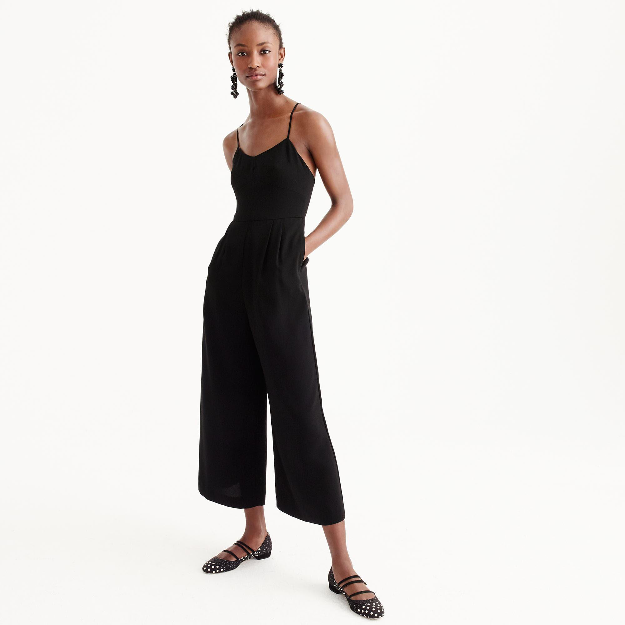 795f0ebe4a3d Lyst - J.Crew Petite Tie-back Jumpsuit in Black