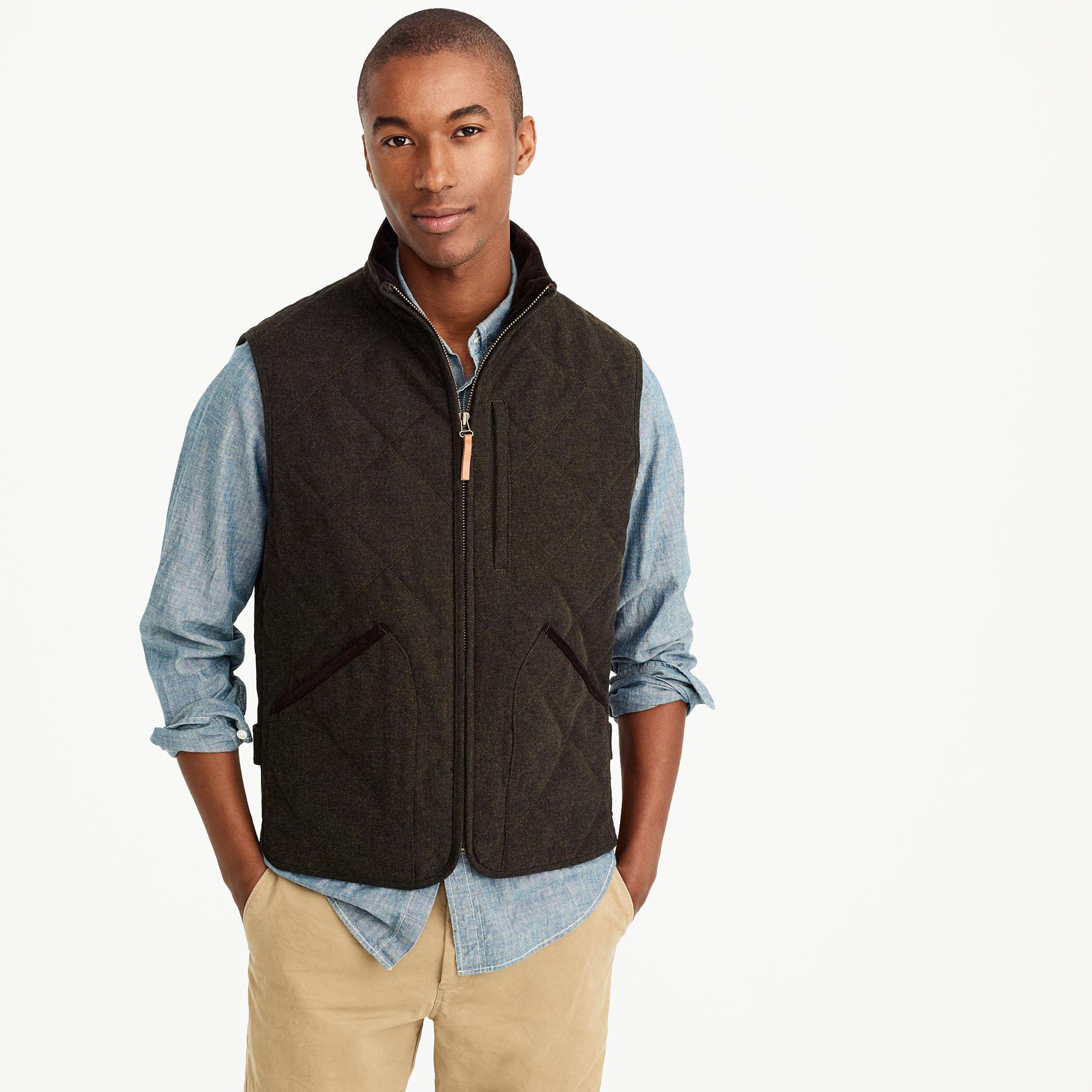 392f989ee3b7 Lyst - J.Crew Sussex Quilted Vest In Charcoal in Gray for Men