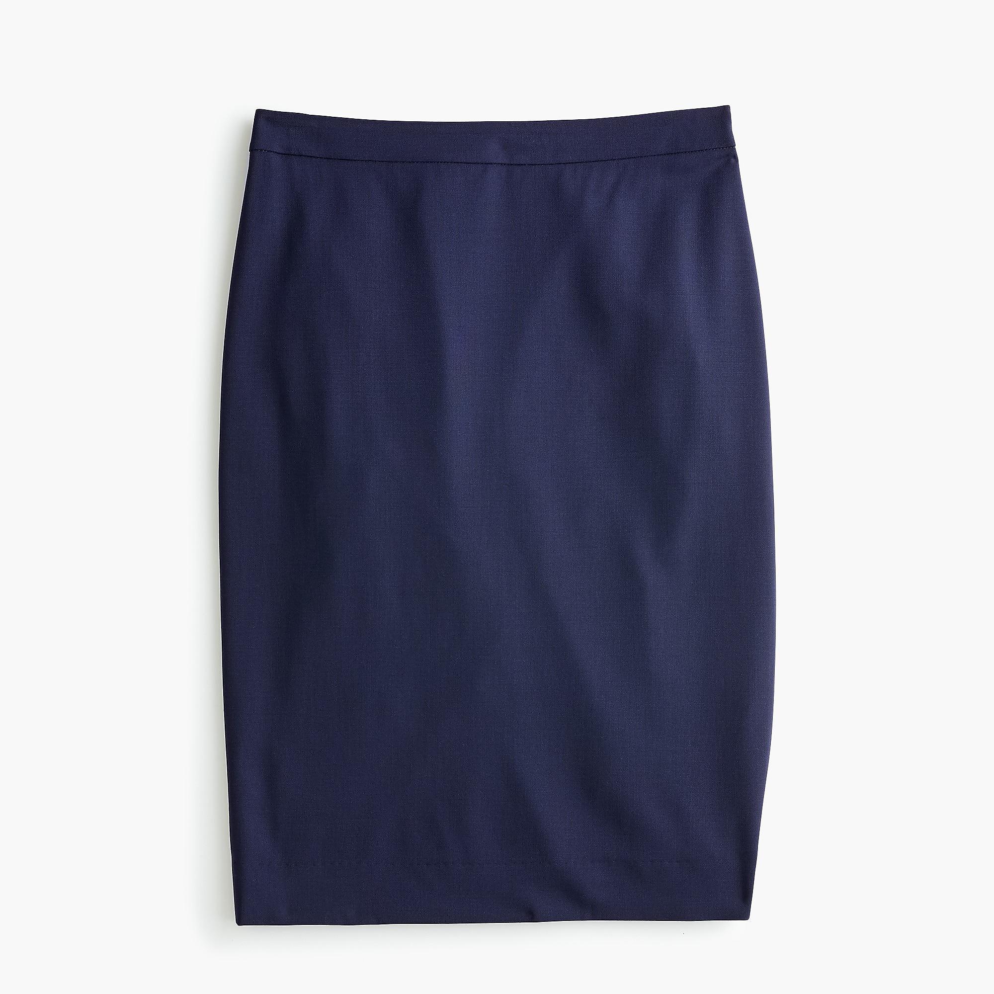 b5385c14b0 J.Crew - Blue Petite No. 2 Pencil Skirt In Italian Stretch Wool -. View  fullscreen