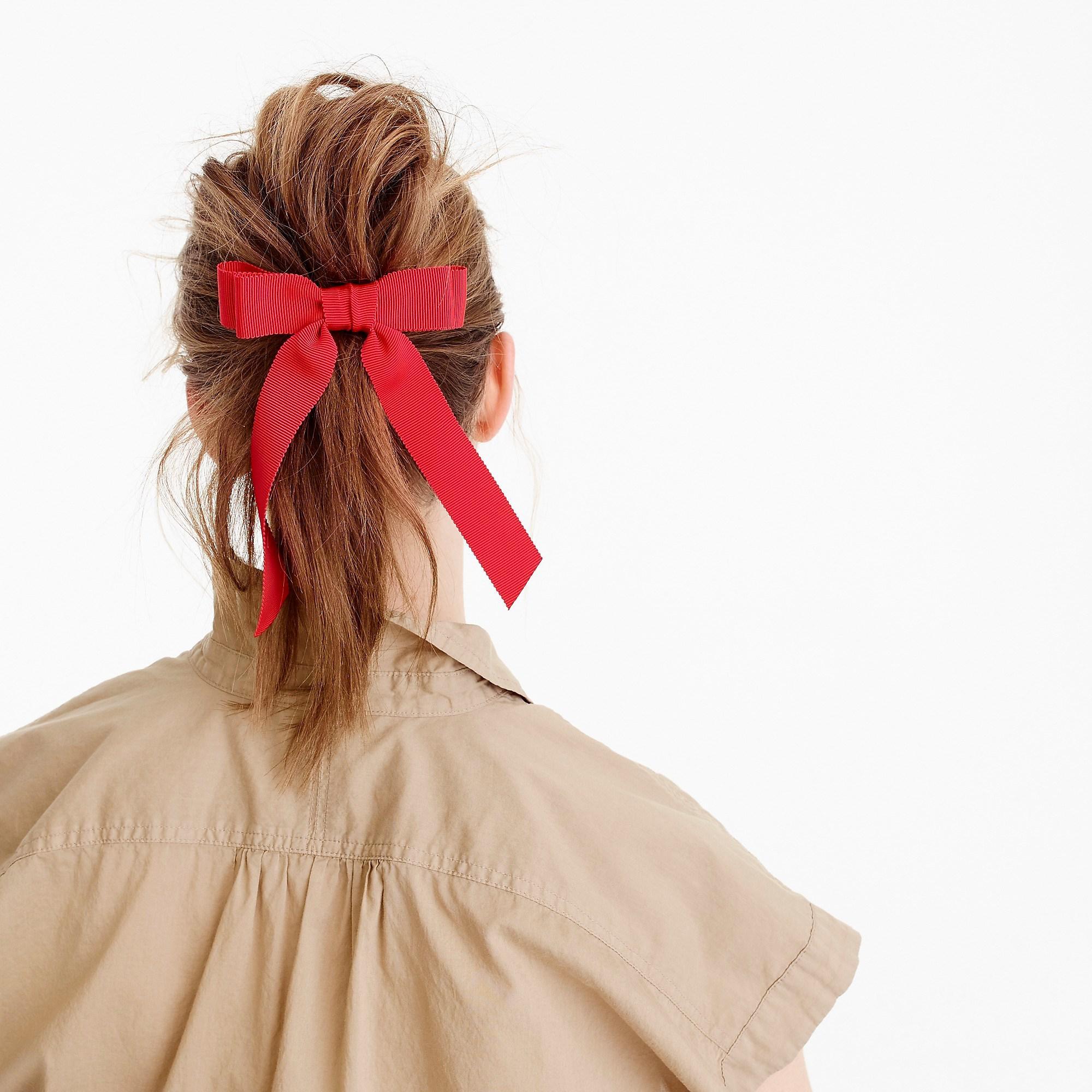 Lyst - J.Crew Grosgrain Ribbon Hair Tie in Red e1e7b820bde