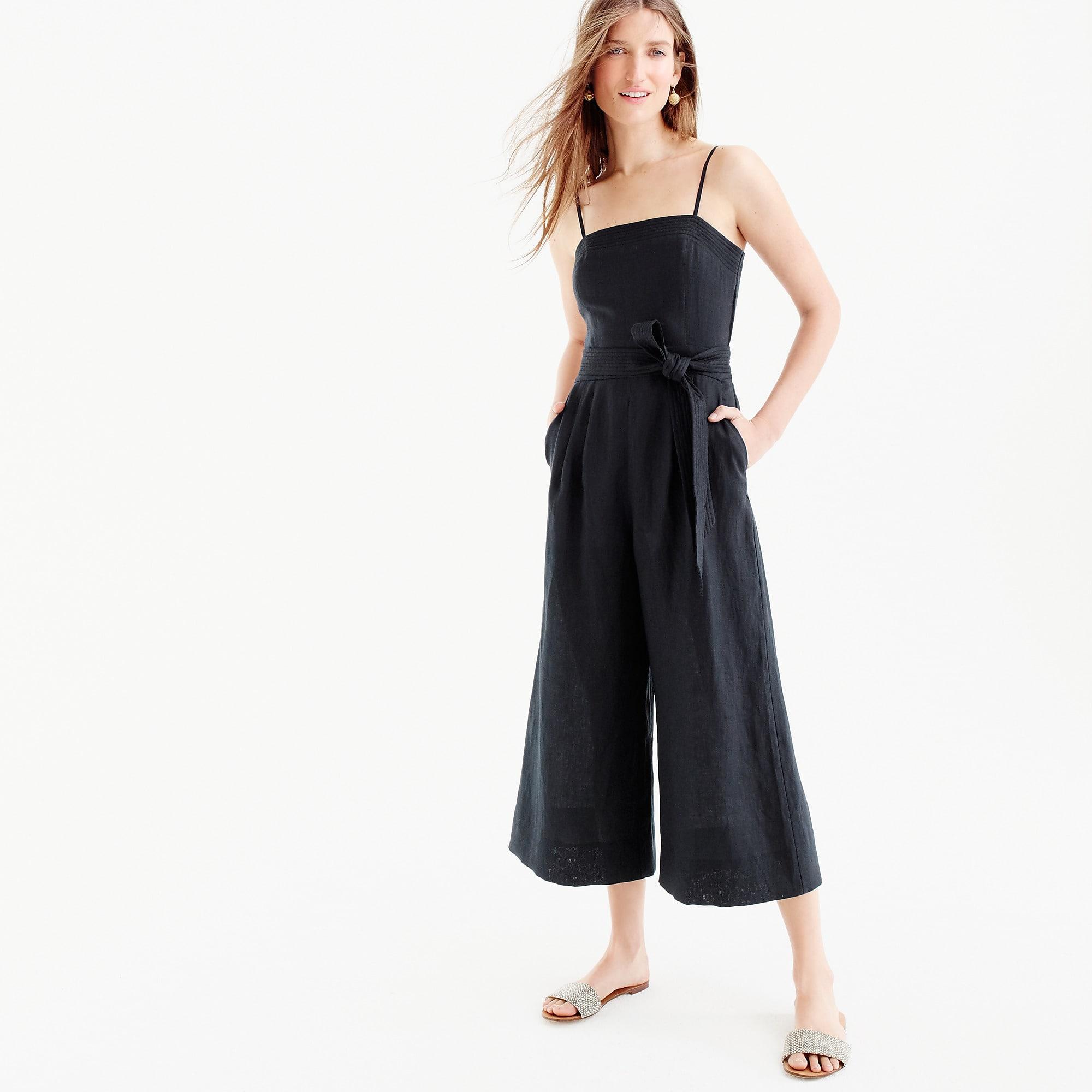 Lyst Jcrew Linen Jumpsuit With Tie In Black
