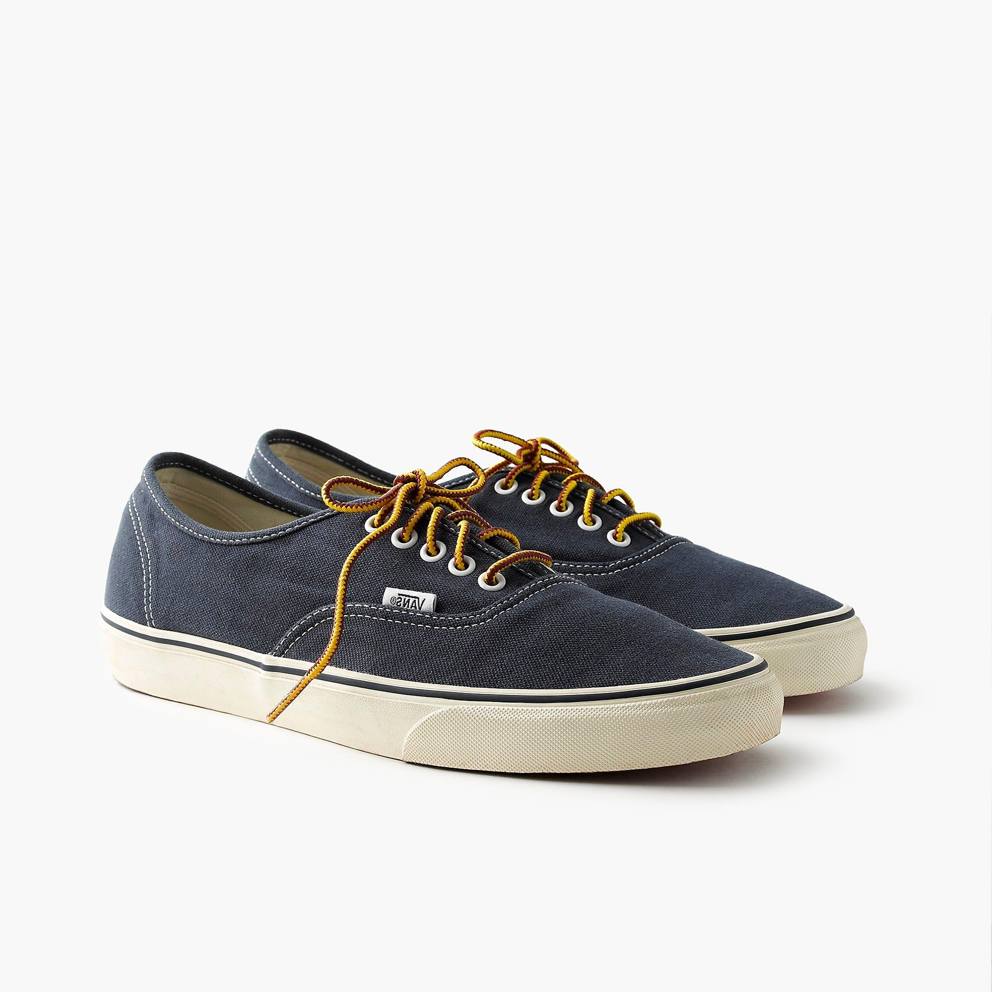 f0fb08ecaf38 Lyst - Vans Washed Canvas Authentic Sneakers in Blue for Men