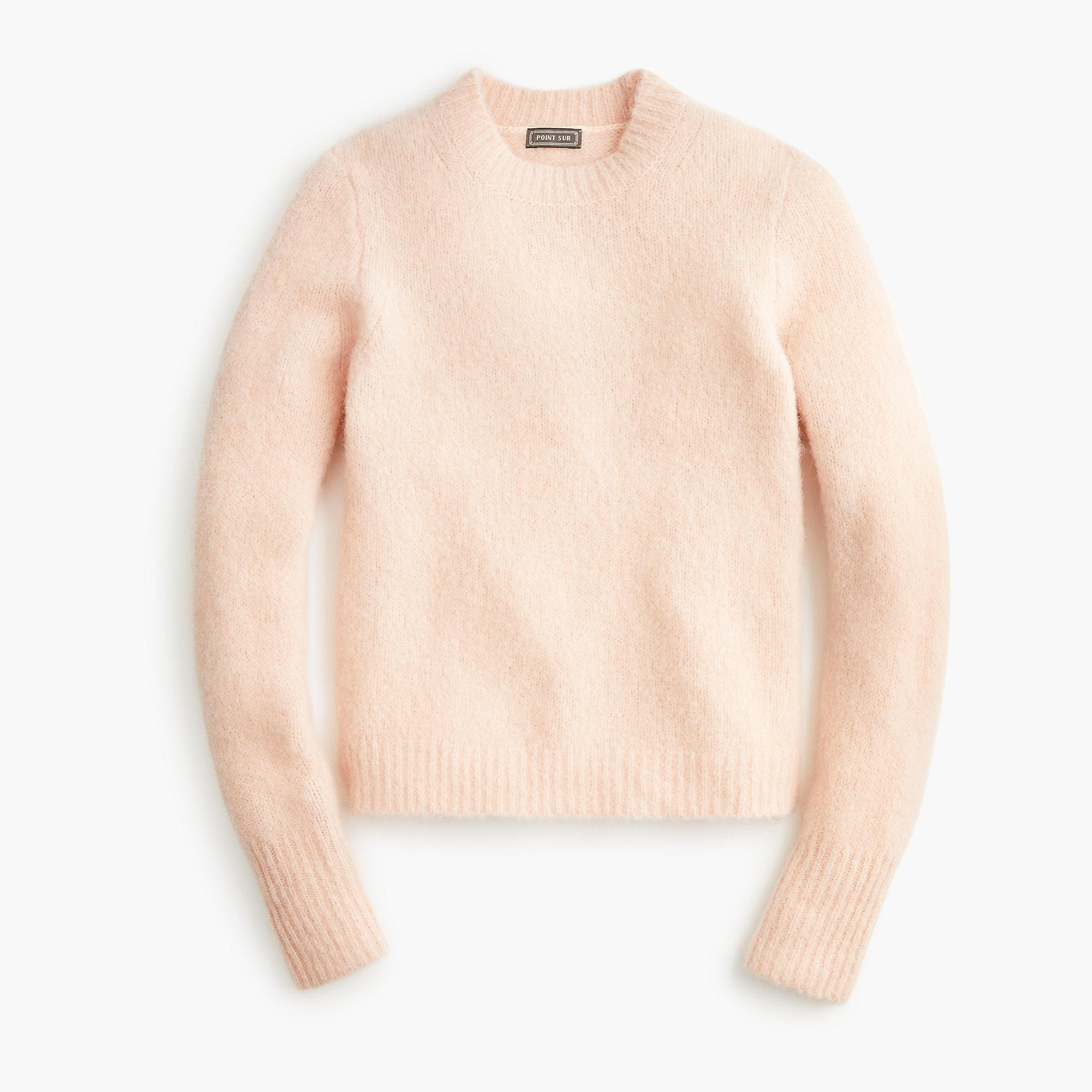 610893d48 Lyst - J.Crew Point Sur Alpaca-blend Crewneck Sweater in Pink