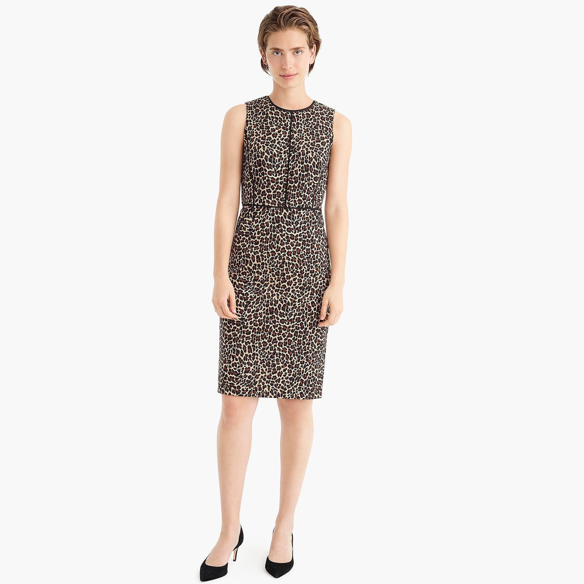 6b4378dc J.Crew - Multicolor Sheath Dress In Leopard Bi-stretch Cotton - Lyst. View  fullscreen