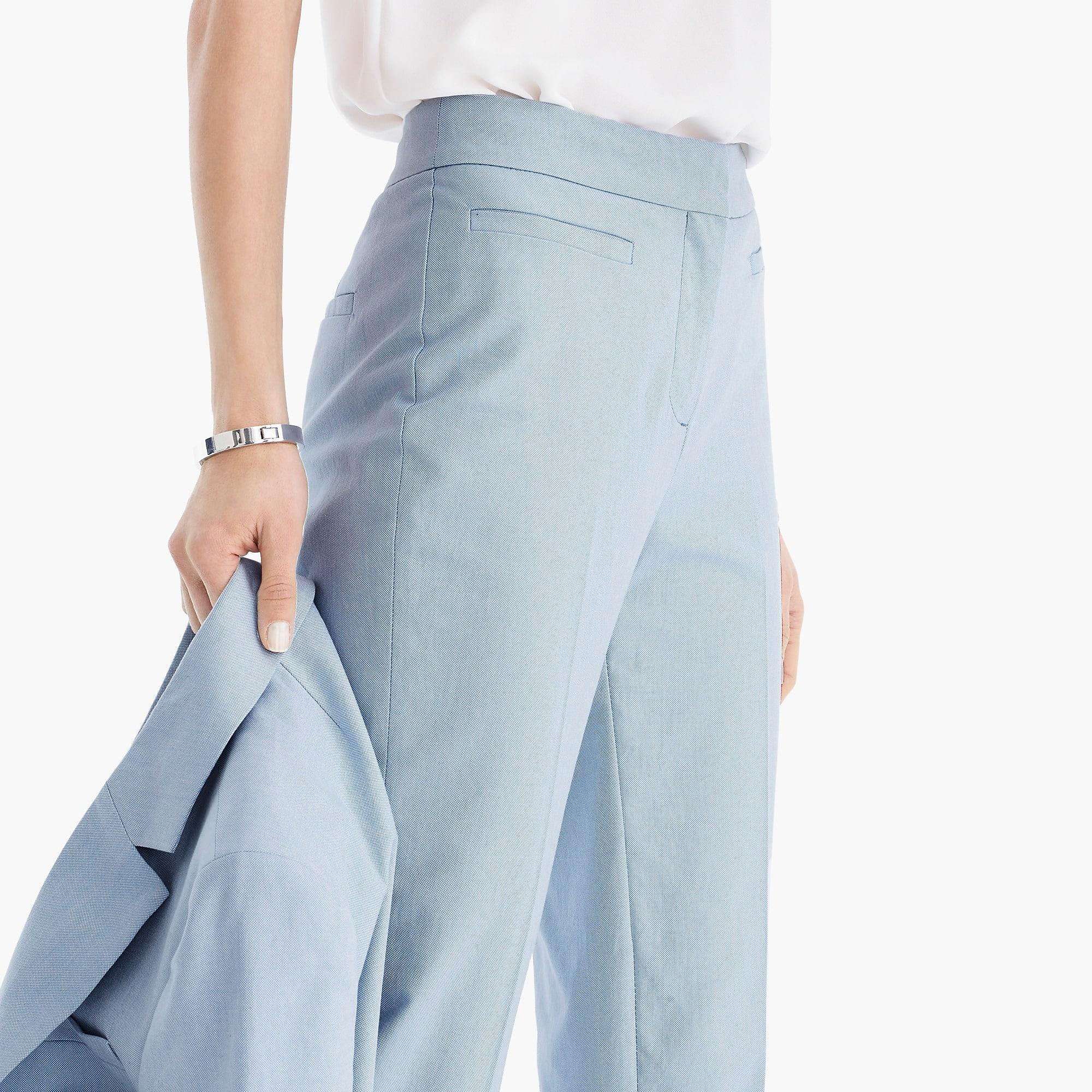dd9f699cf7 J.Crew French Girl Pant In Italian Cotton in Blue - Lyst