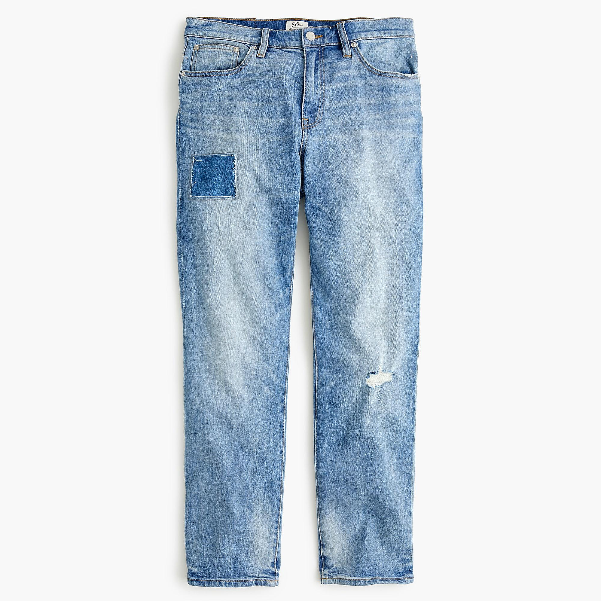919ecb733ab824 Lyst - J.Crew Petite Slim Boyfriend Jean With Patch And Distressing in Blue