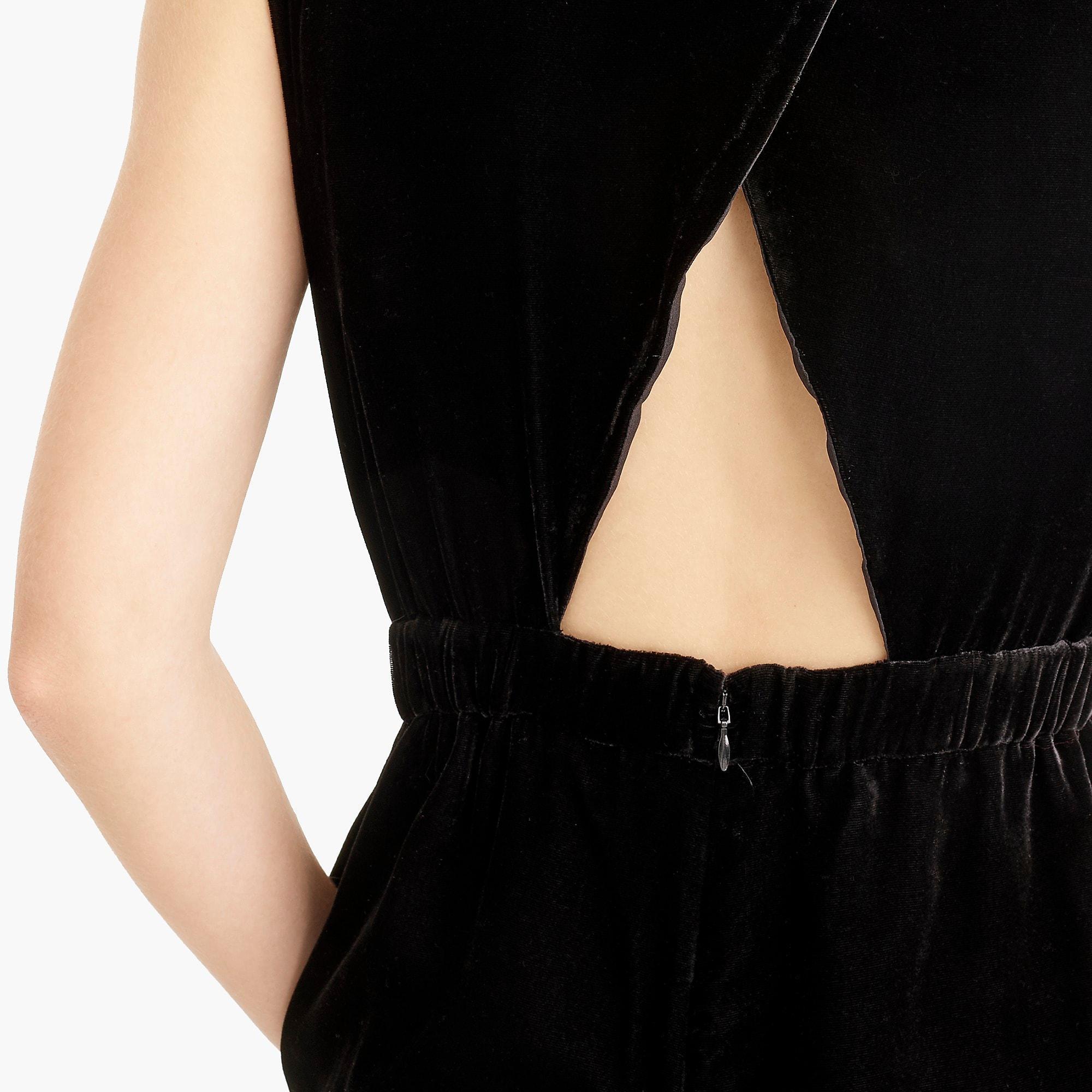 a8cc0f1c9b7 Lyst - J.Crew Sleeveless Velvet Jumpsuit in Black - Save 25%