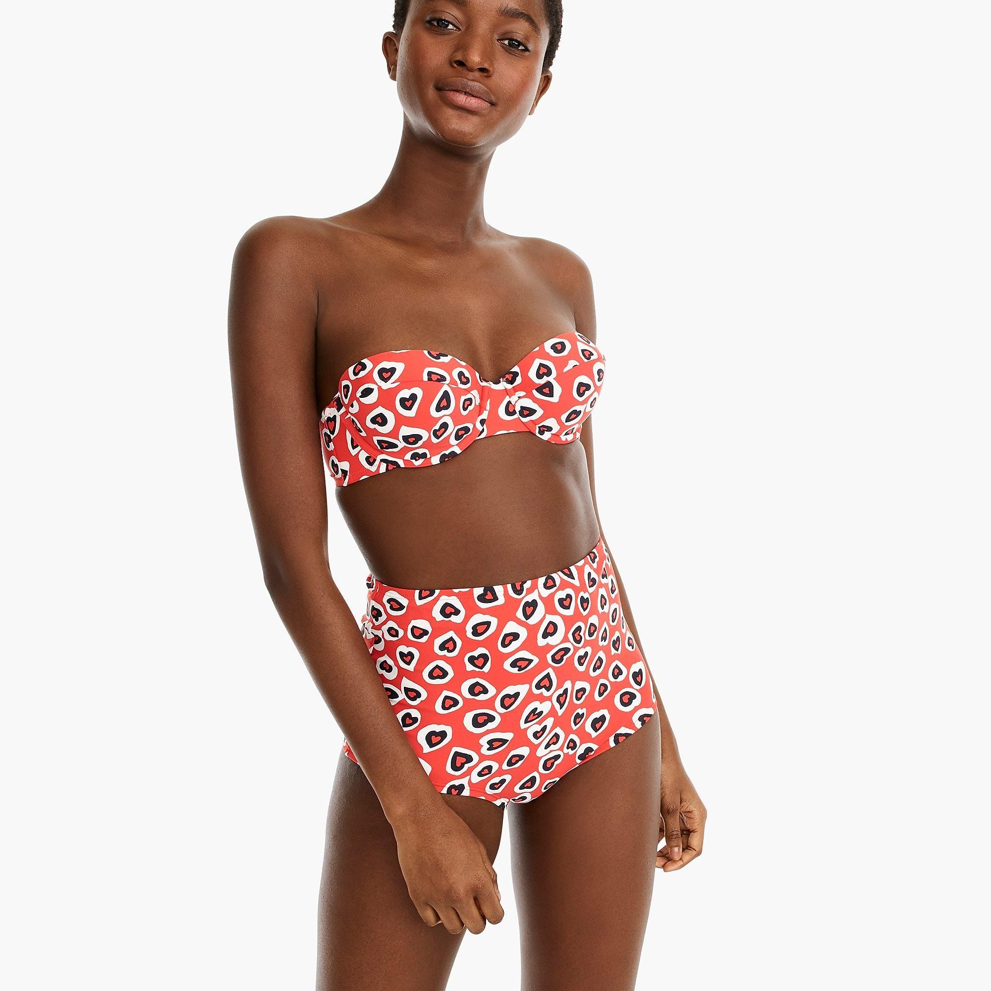 8ccfea2fa0 J.Crew Demi Underwire Bikini Top In Heart Print in Red - Lyst