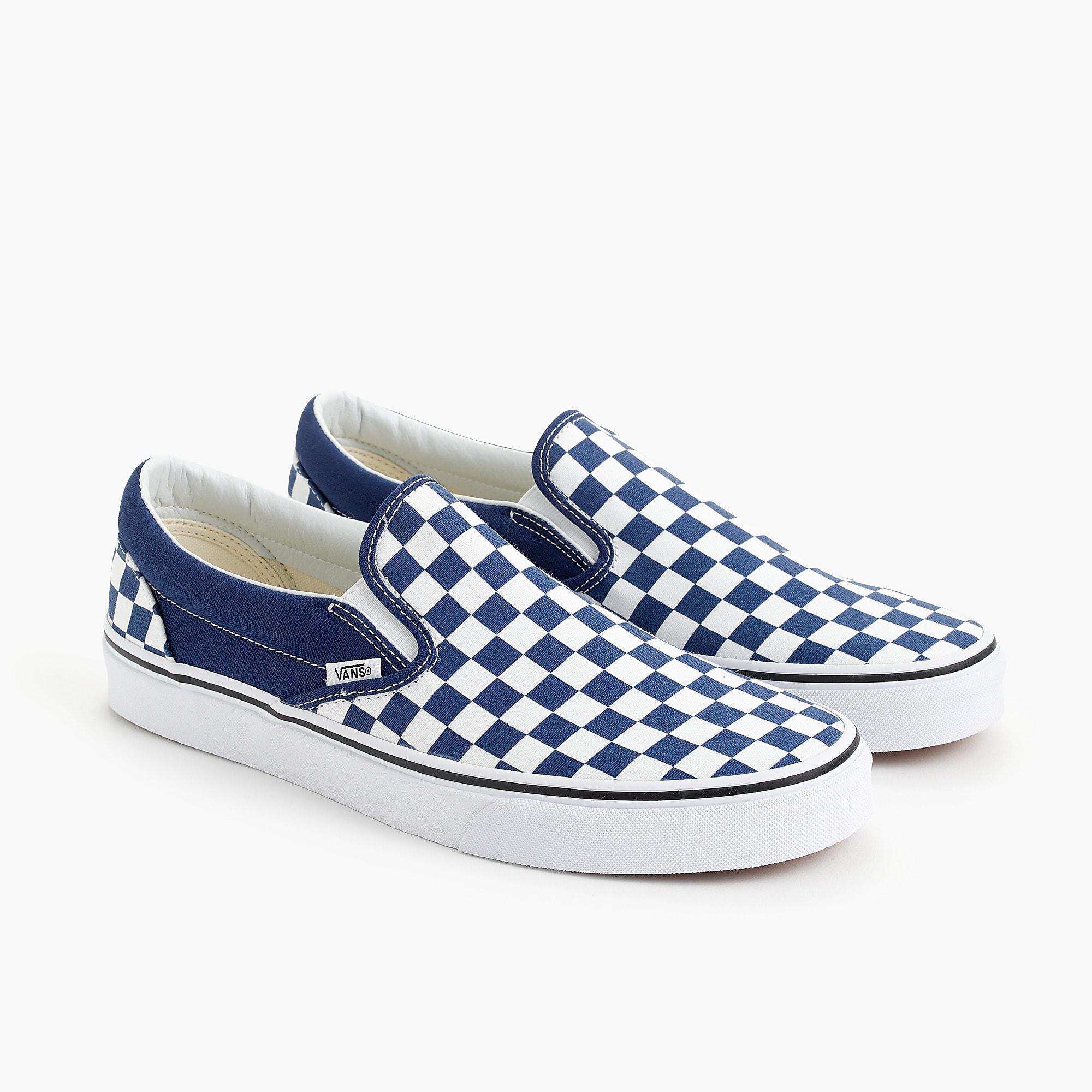 66198c499d15 Lyst - Vans Slip-on Sneakers In Blue Checkerboard in Blue for Men