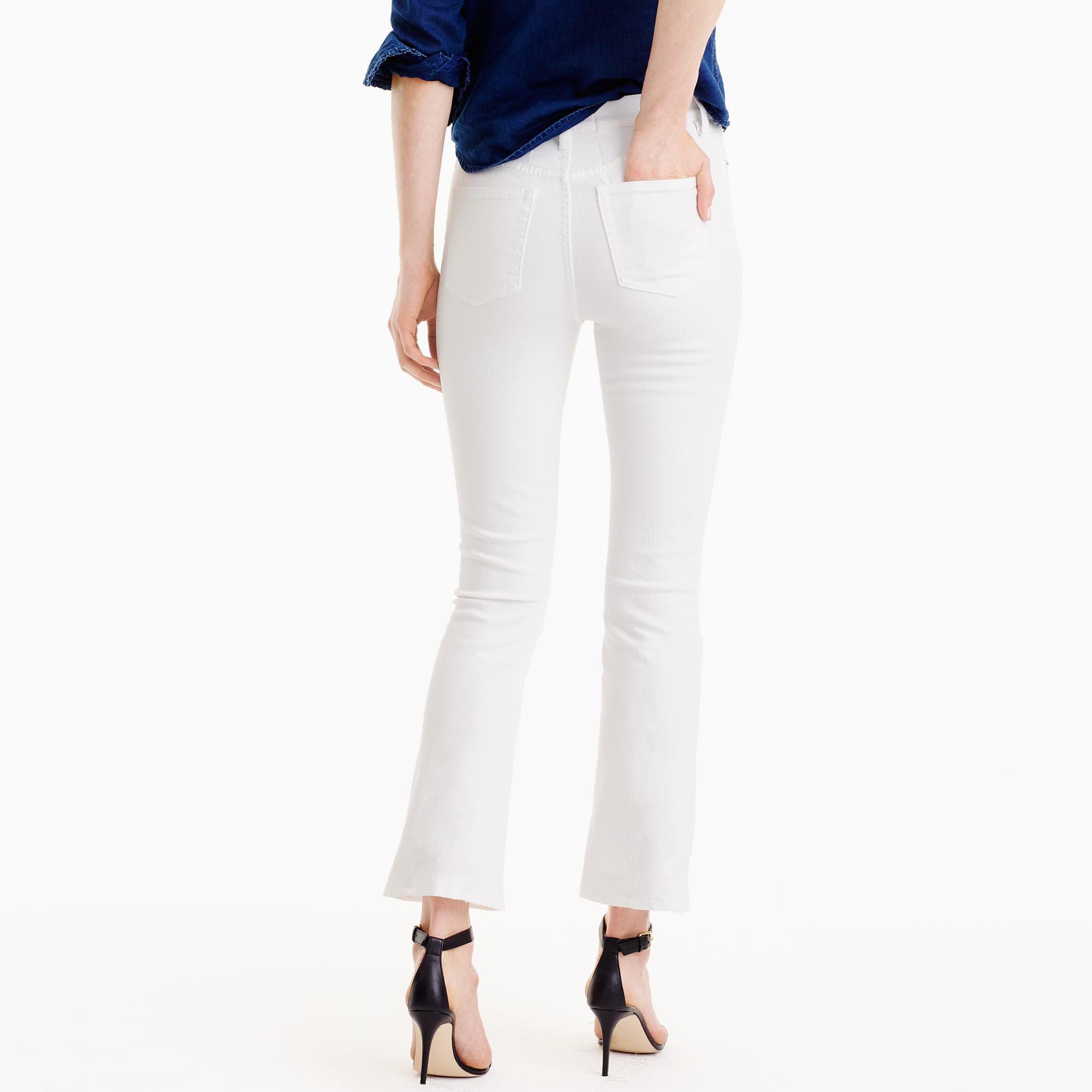 56d8a0a8ba7 J.Crew Billie Demi-boot Crop Jean In White in White - Lyst