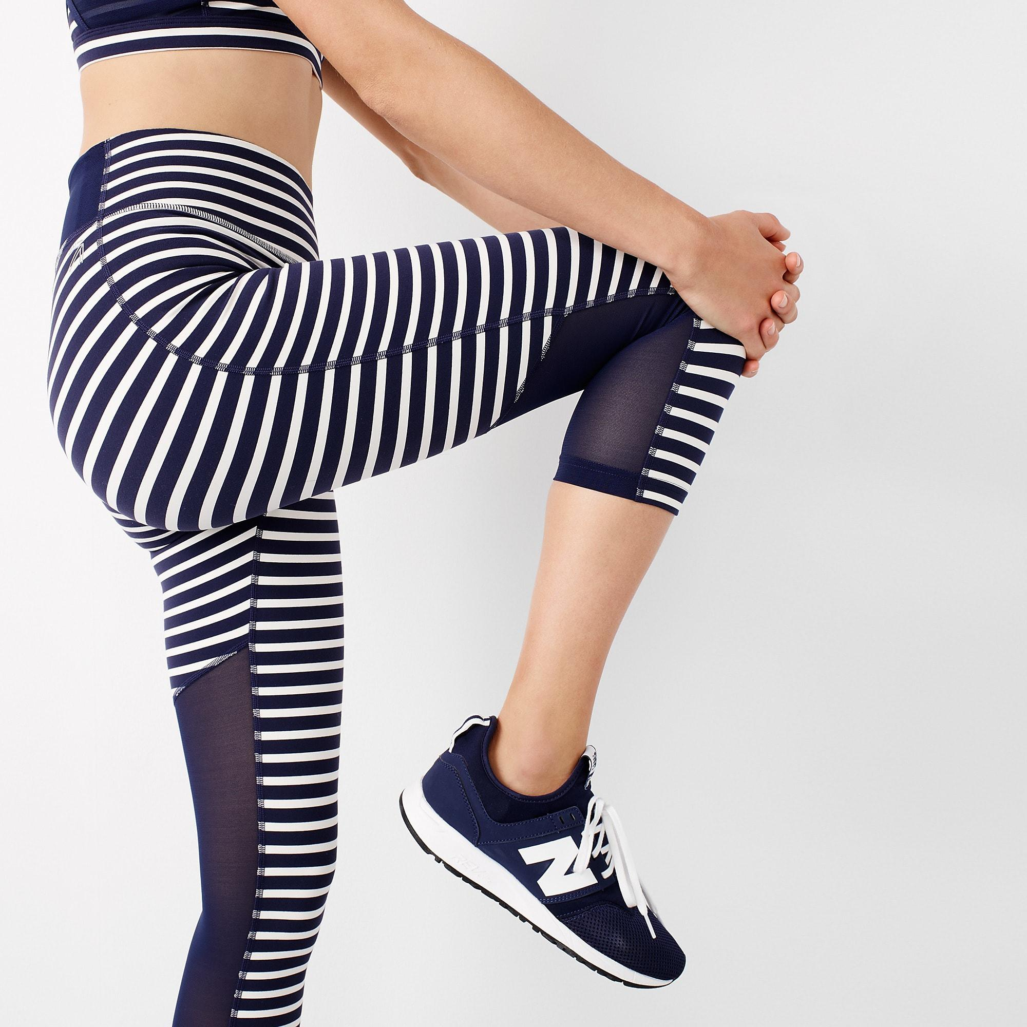 dbfd067da0909 New Balance High-waisted Performance Capri leggings In Stripe With ...