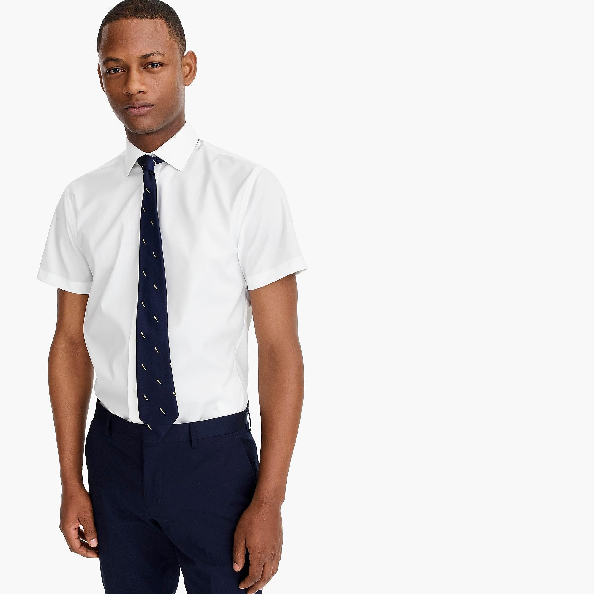 296222c2bd2d J.Crew. Men's Short-sleeve Ludlow Stretch Two-ply Easy-care Cotton Dress  Shirt ...