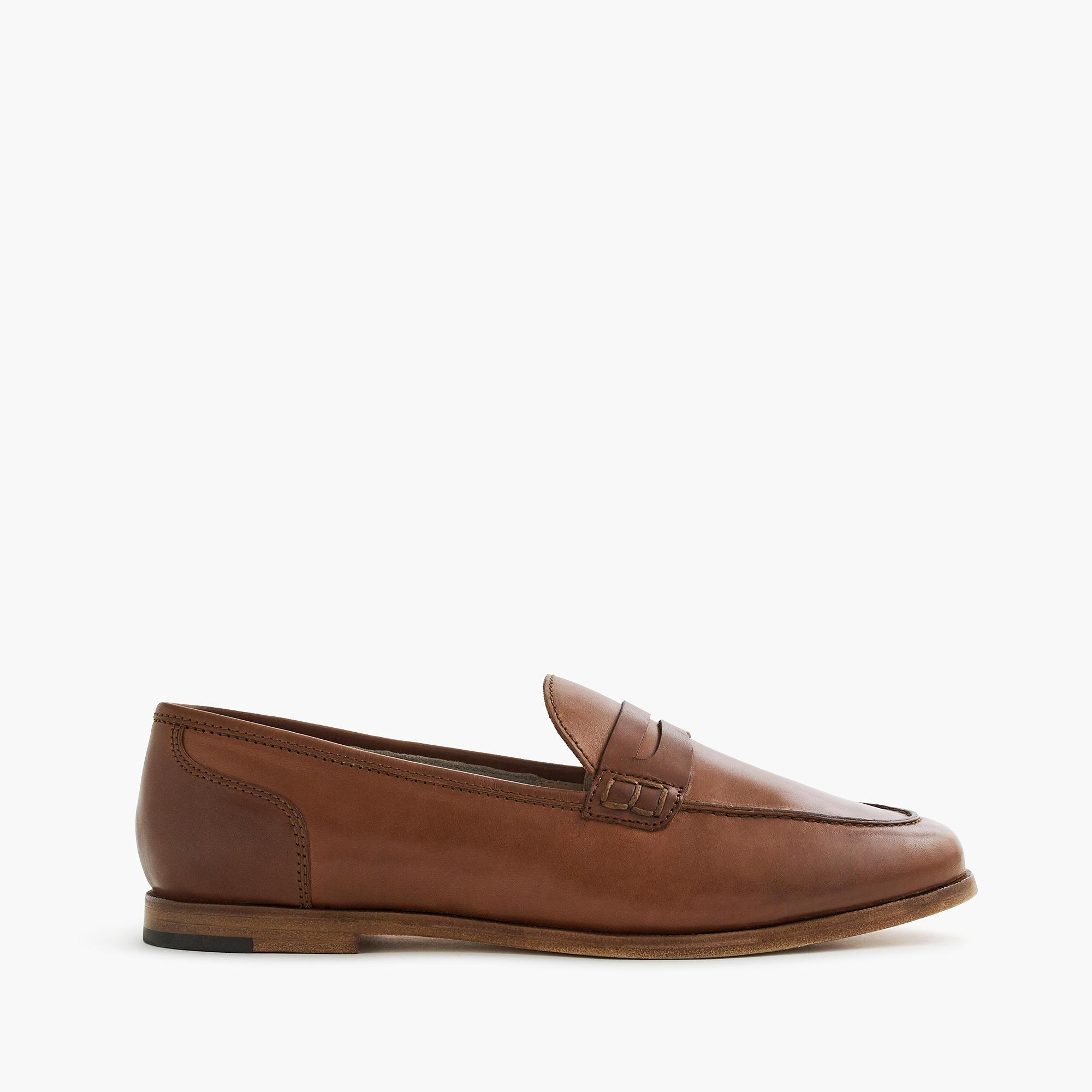 c65e7884672 J.Crew Ryan Penny Loafers In Leather in Brown - Save 16% - Lyst