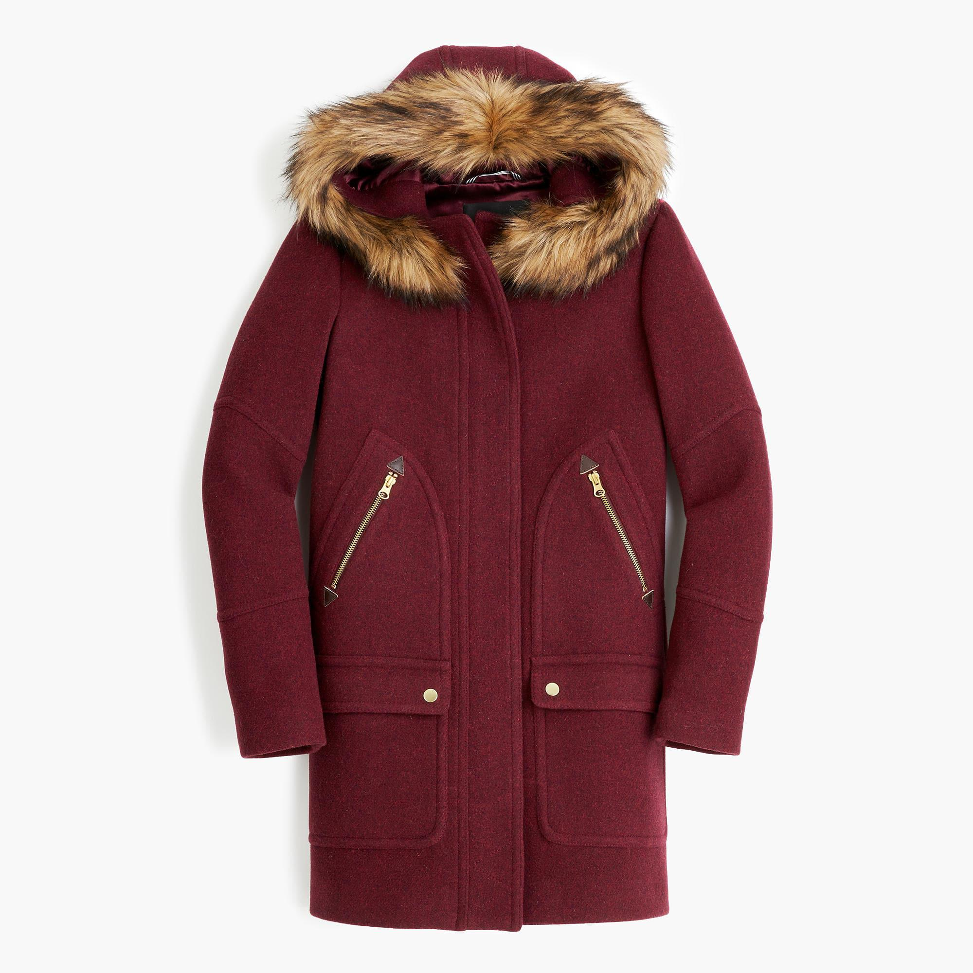 J.crew Chateau Parka In Italian Stadium-cloth Wool in Red - Save ...