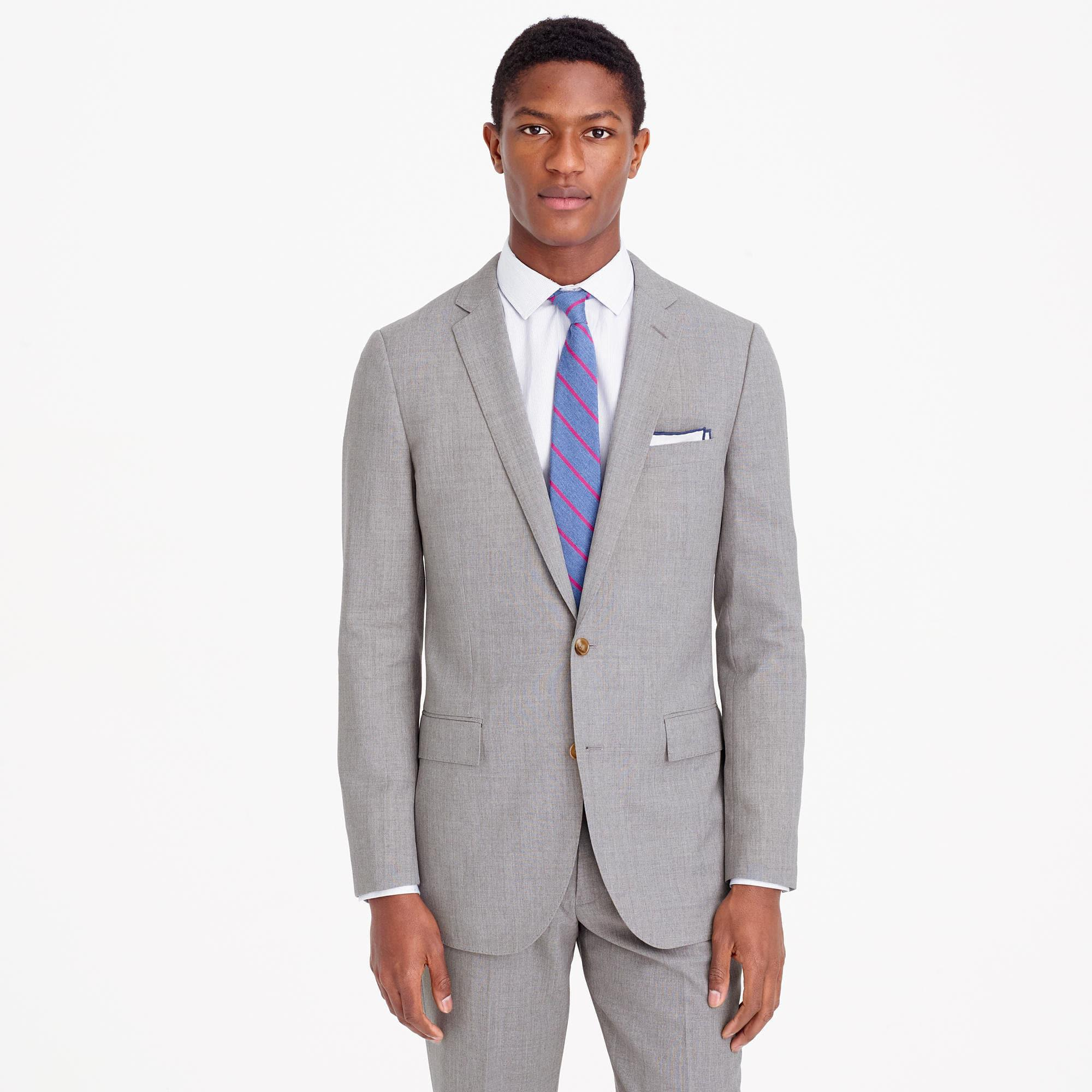 hardy blend fit suit button amies gray grey light tailored jacket mohair mens itm