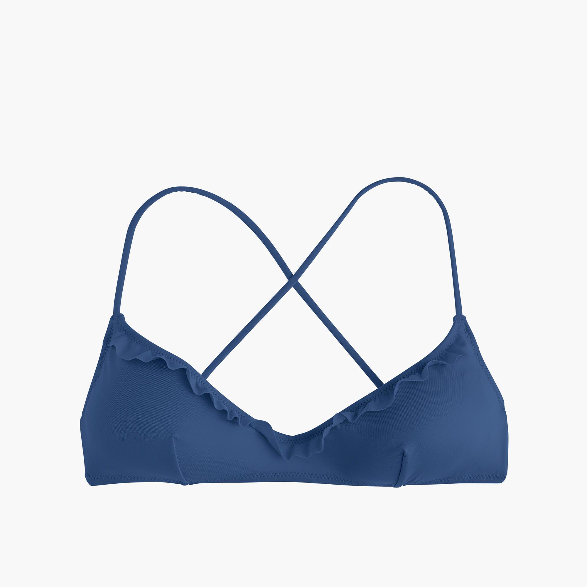 aad72fcd53492 Lyst - J.Crew Playa Maui Ruffle Bikini Top in Blue