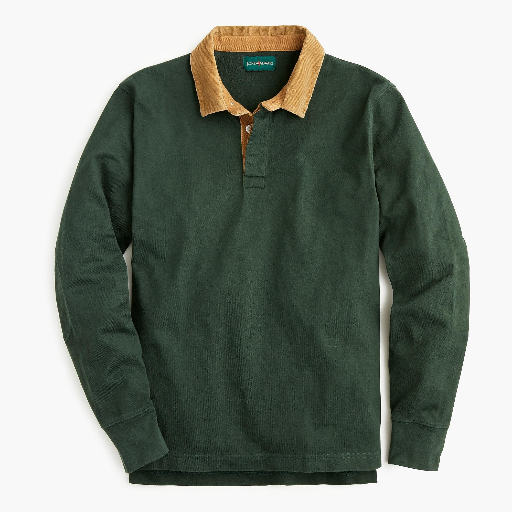 5a1b4ad4a7a J.Crew 1984 Corduroy Collar Rugby Shirt in Green for Men - Lyst