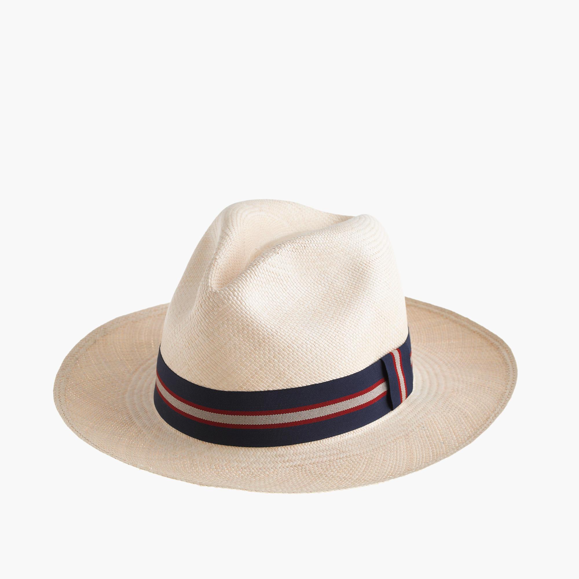 076b5e0368057 Lyst - J.Crew Paulmann Straw Panama Hat in Blue for Men