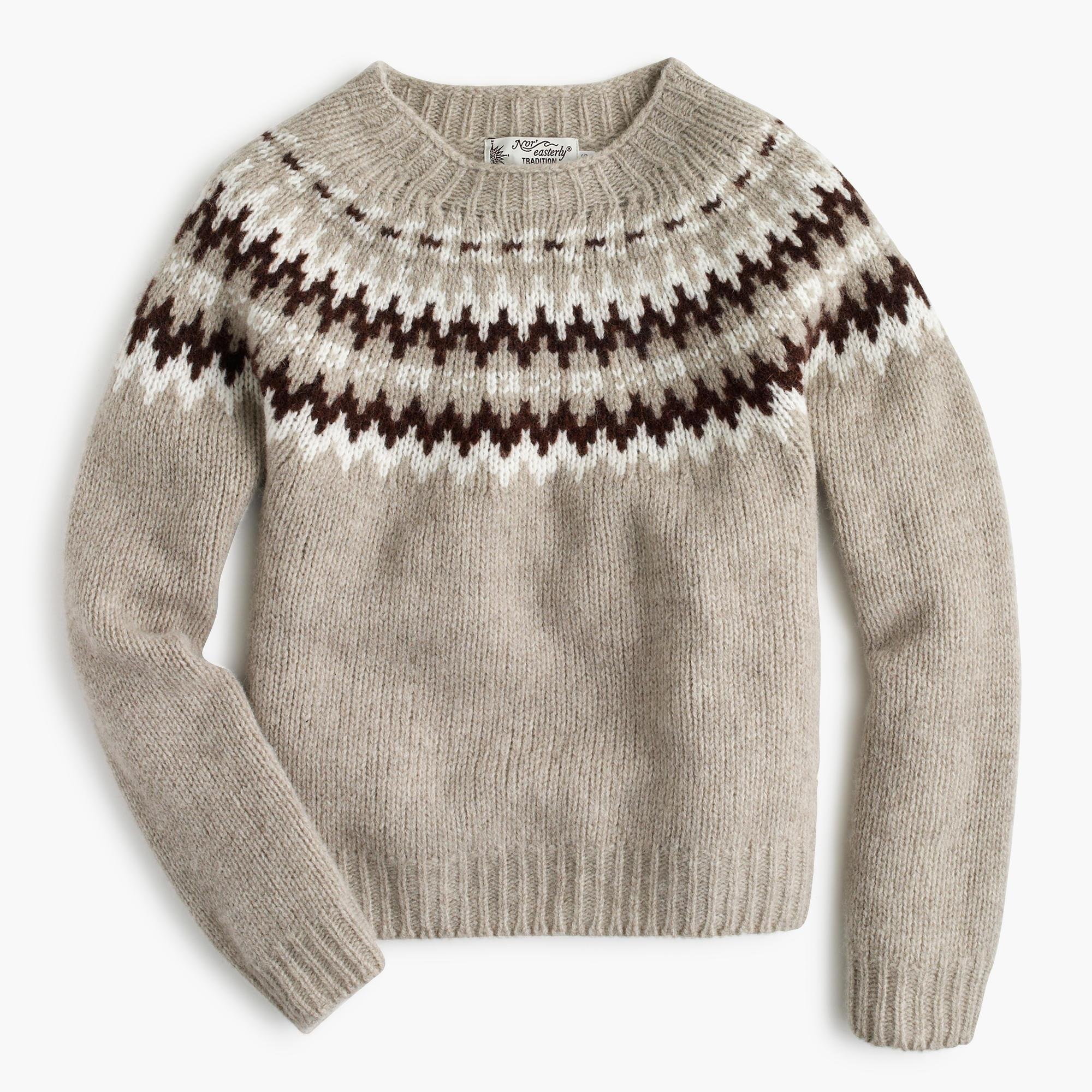 Lyst Jcrew Harley Of Scotland Noreasterly Sweater In Natural