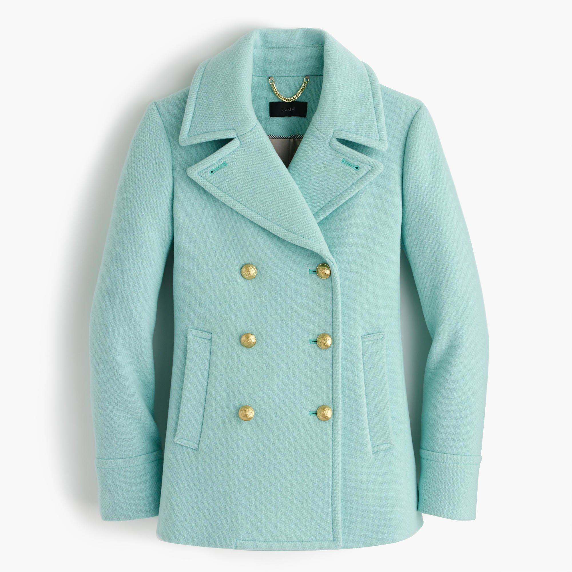 J.crew Tall Majesty Peacoat In Stadium Cloth in Blue | Lyst