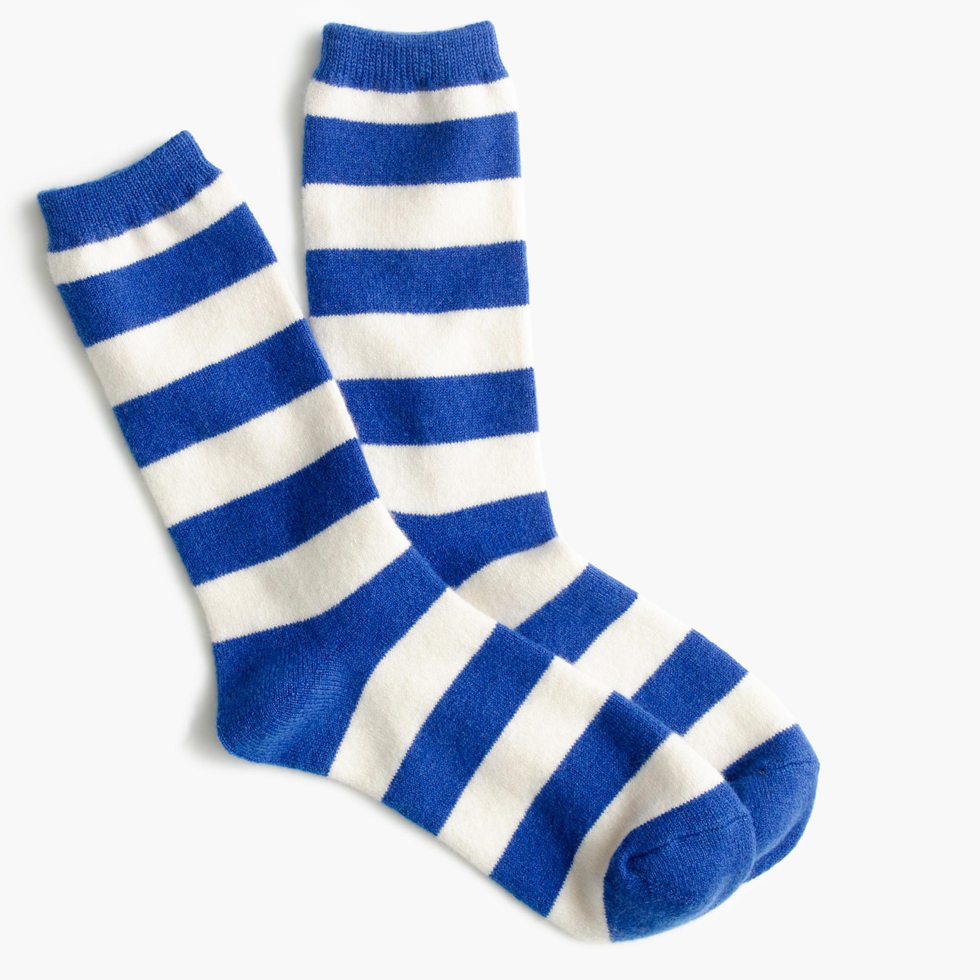 J.crew Striped Cashmere Trouser Sock in Blue for Men