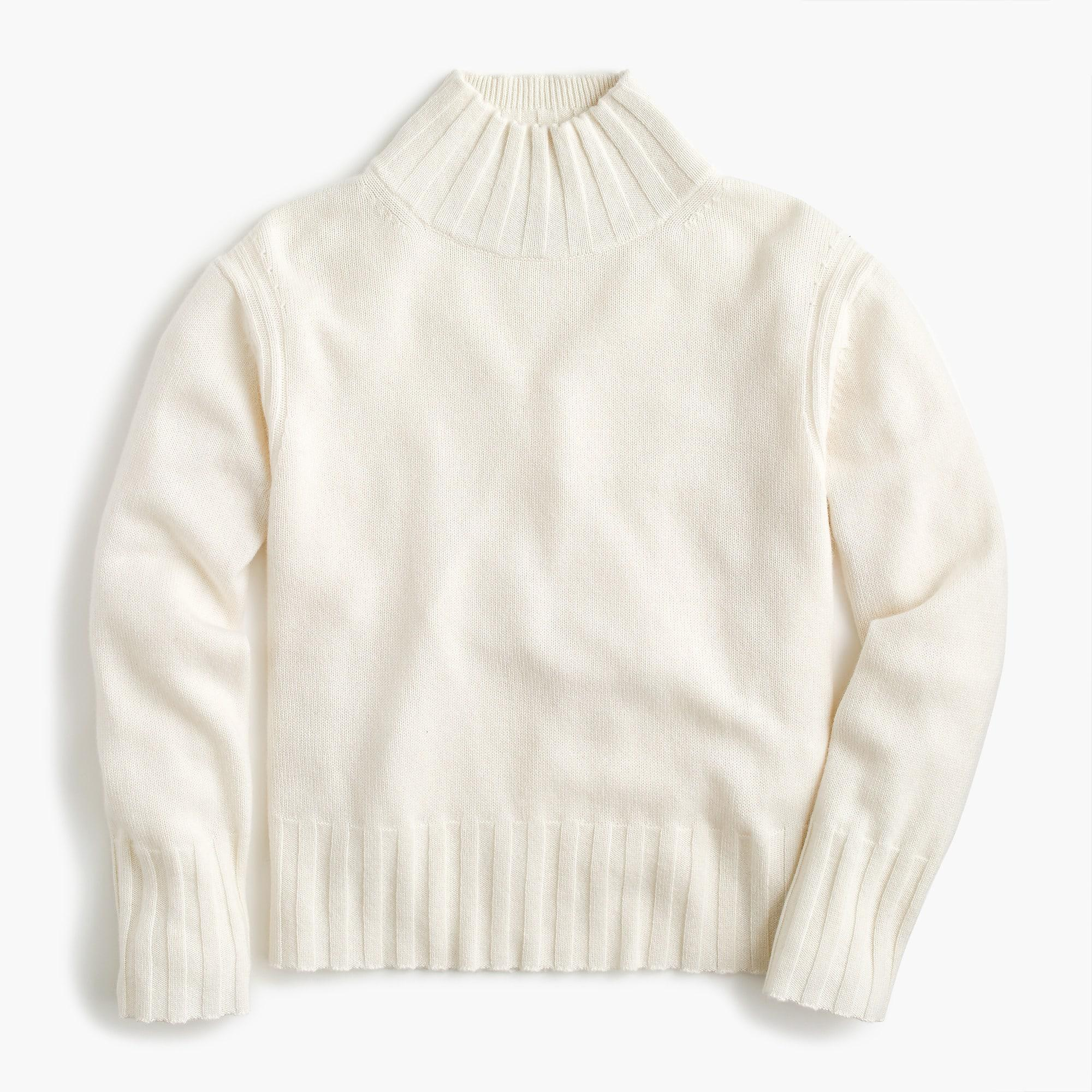 aa2fa34a69b J.Crew Relaxed Mockneck Sweater In Cashmere in Natural - Lyst