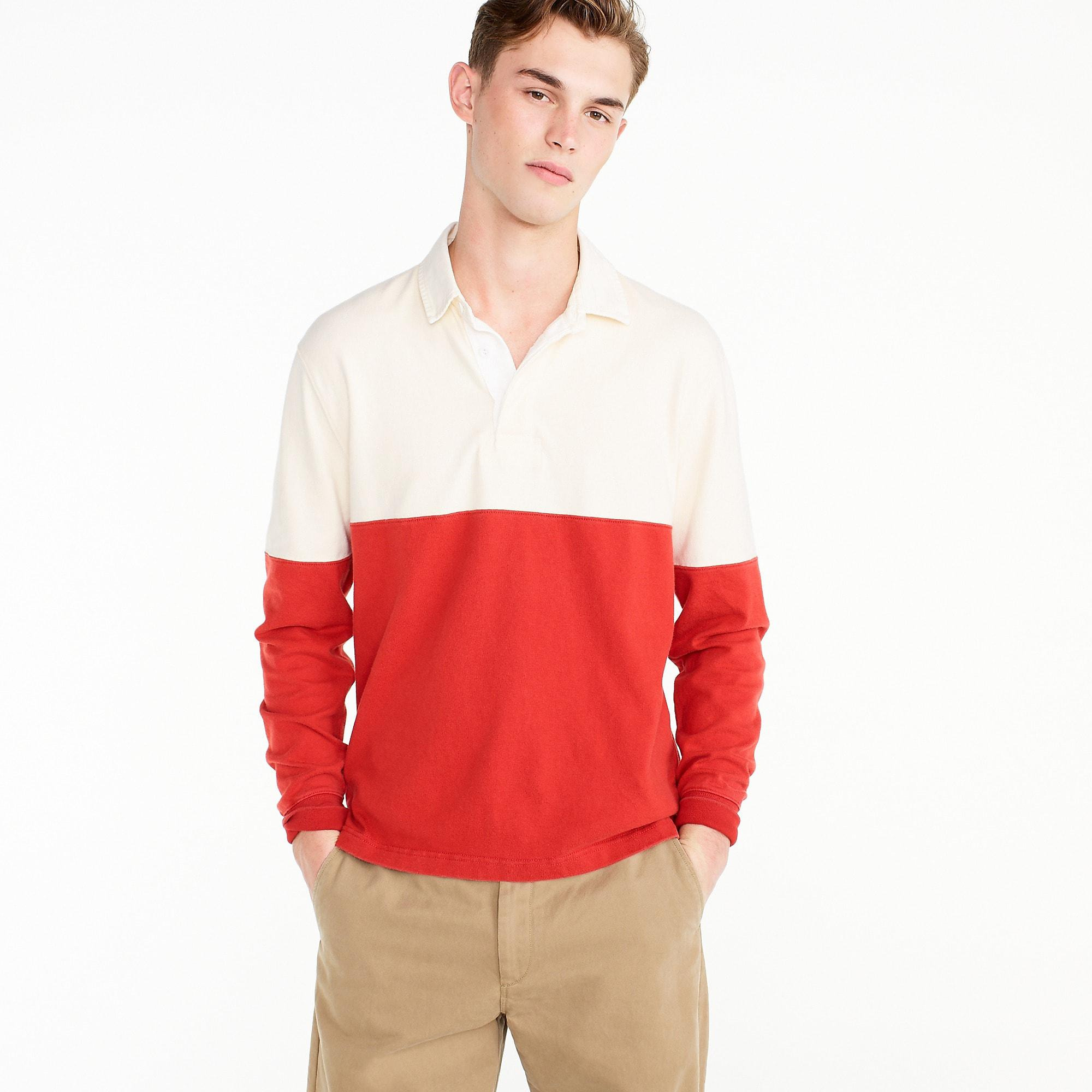 0855a9a113d J.Crew Unisex 1984 Rugby Shirt In Colorblock in Red for Men - Lyst