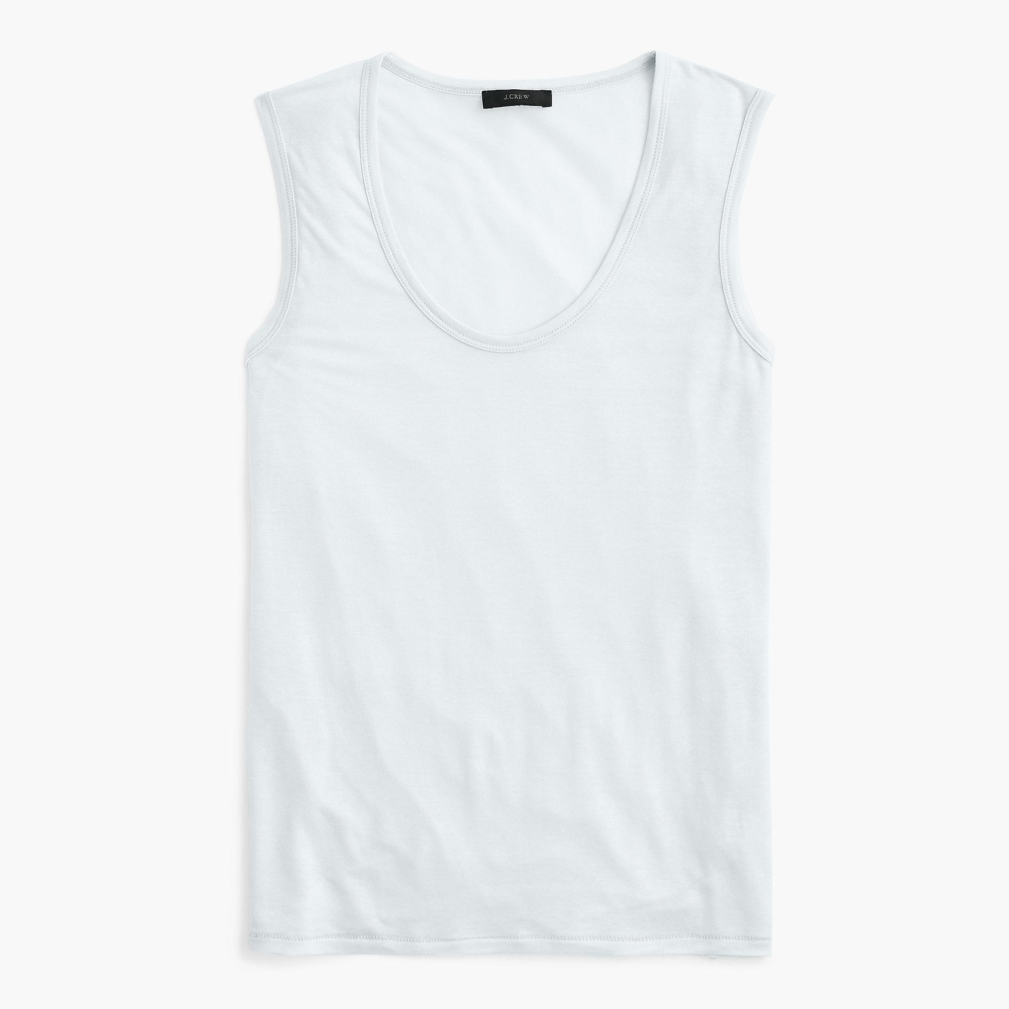 946853834d Lyst - J.Crew Drapey Tank Top in White