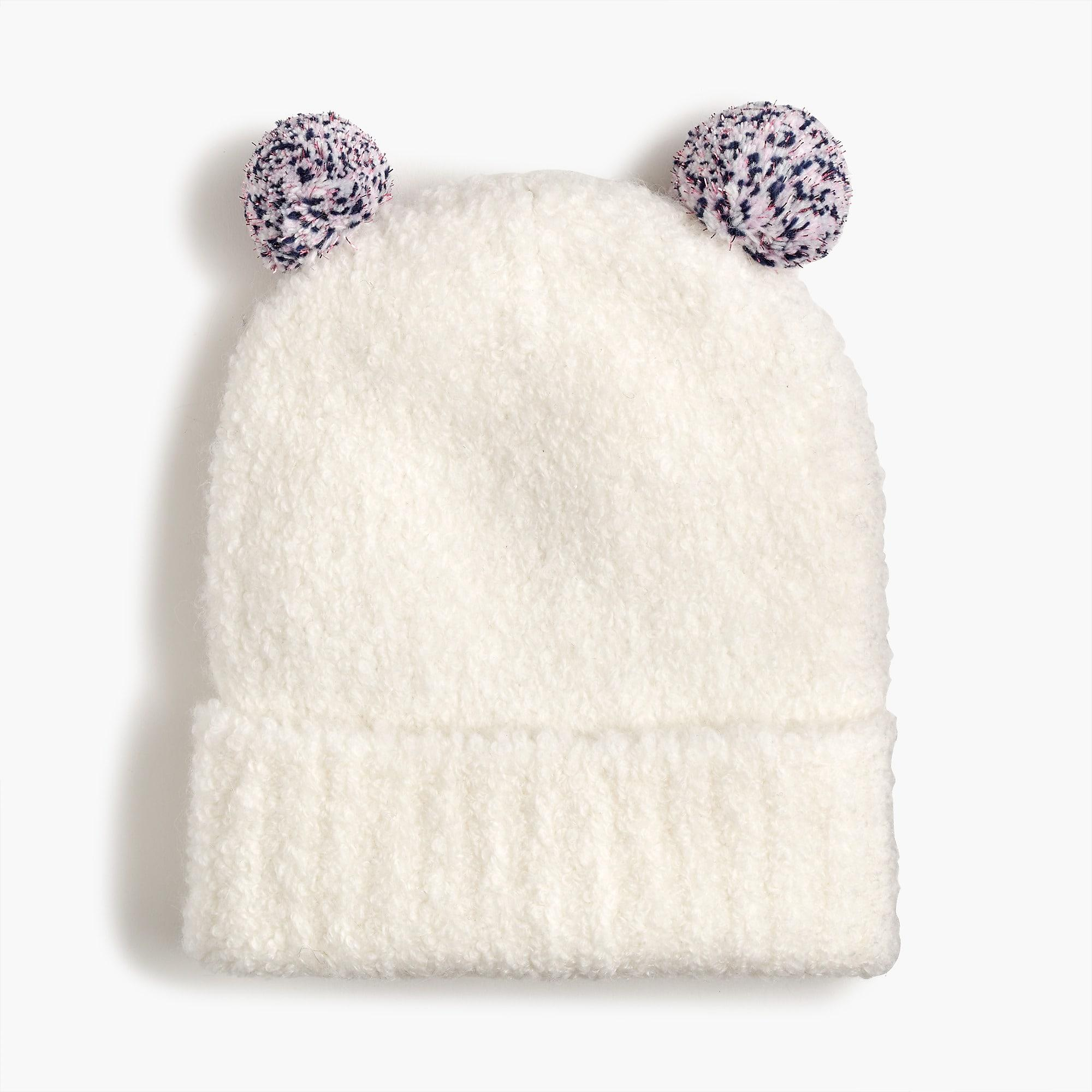 07cd138f710 Lyst - J.Crew Girls  Knit Cap With Sparkly Pom-poms in White