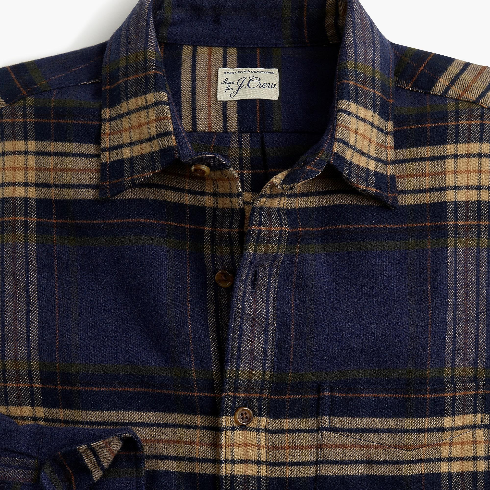 68e0ed90def3 Lyst - J.Crew Slim Brushed Midweight Flannel Shirt In Gail Plaid in ...