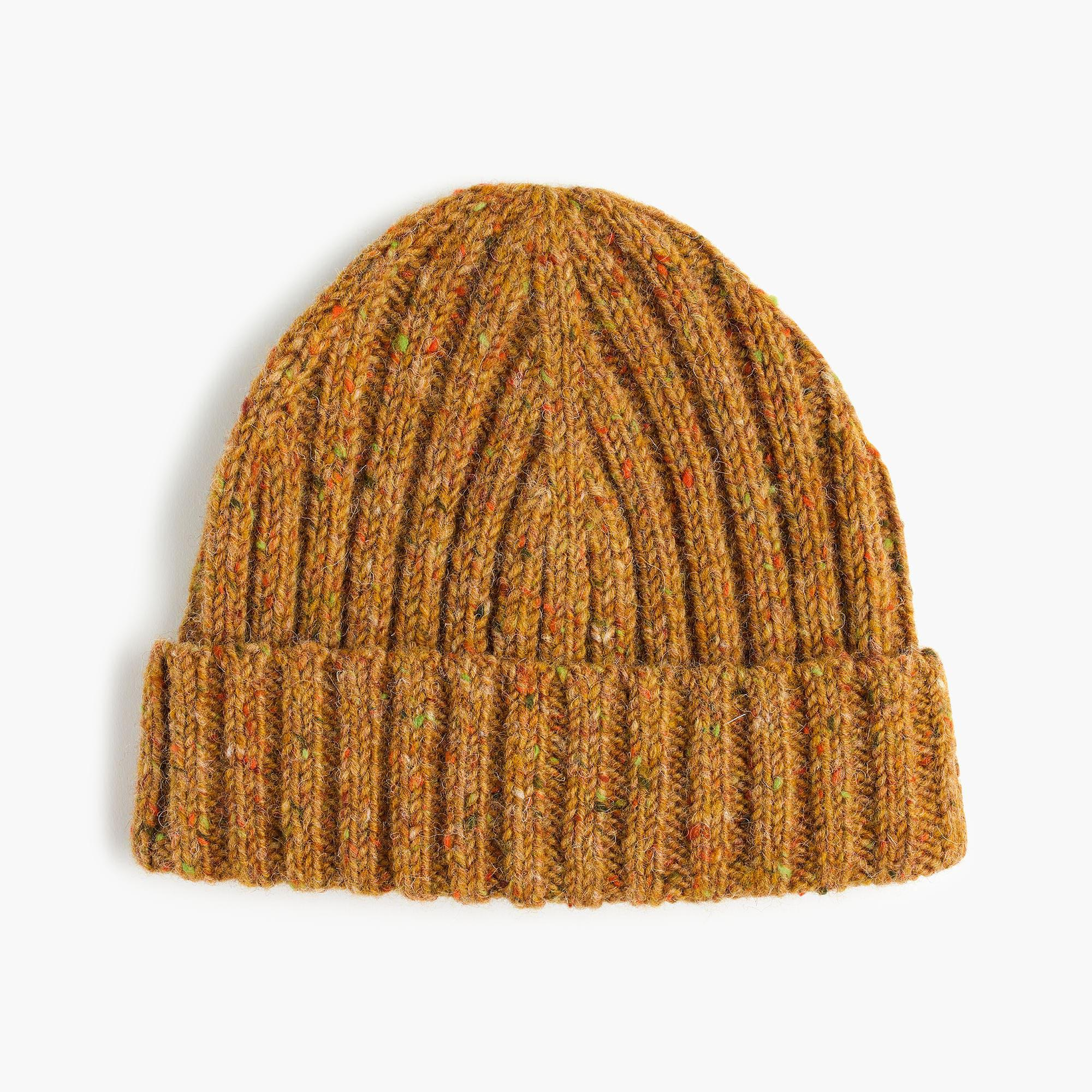 f2b68fd15a9 Lyst - J.Crew Donegal Wool Ribbed Beanie in Brown for Men
