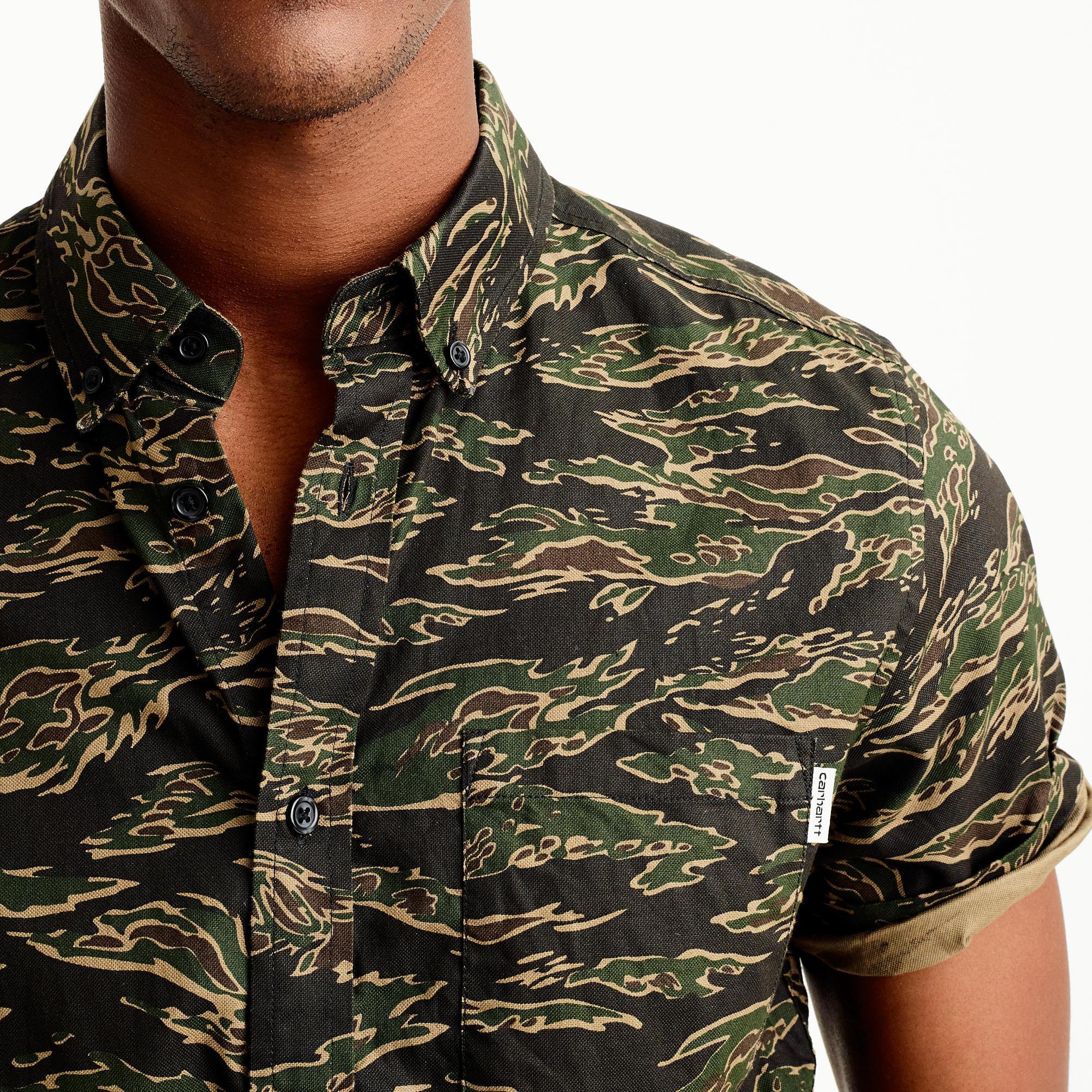 5646d1e8d1e J.Crew Carhartt Work In Progress Camouflage Shirt in Black for Men ...