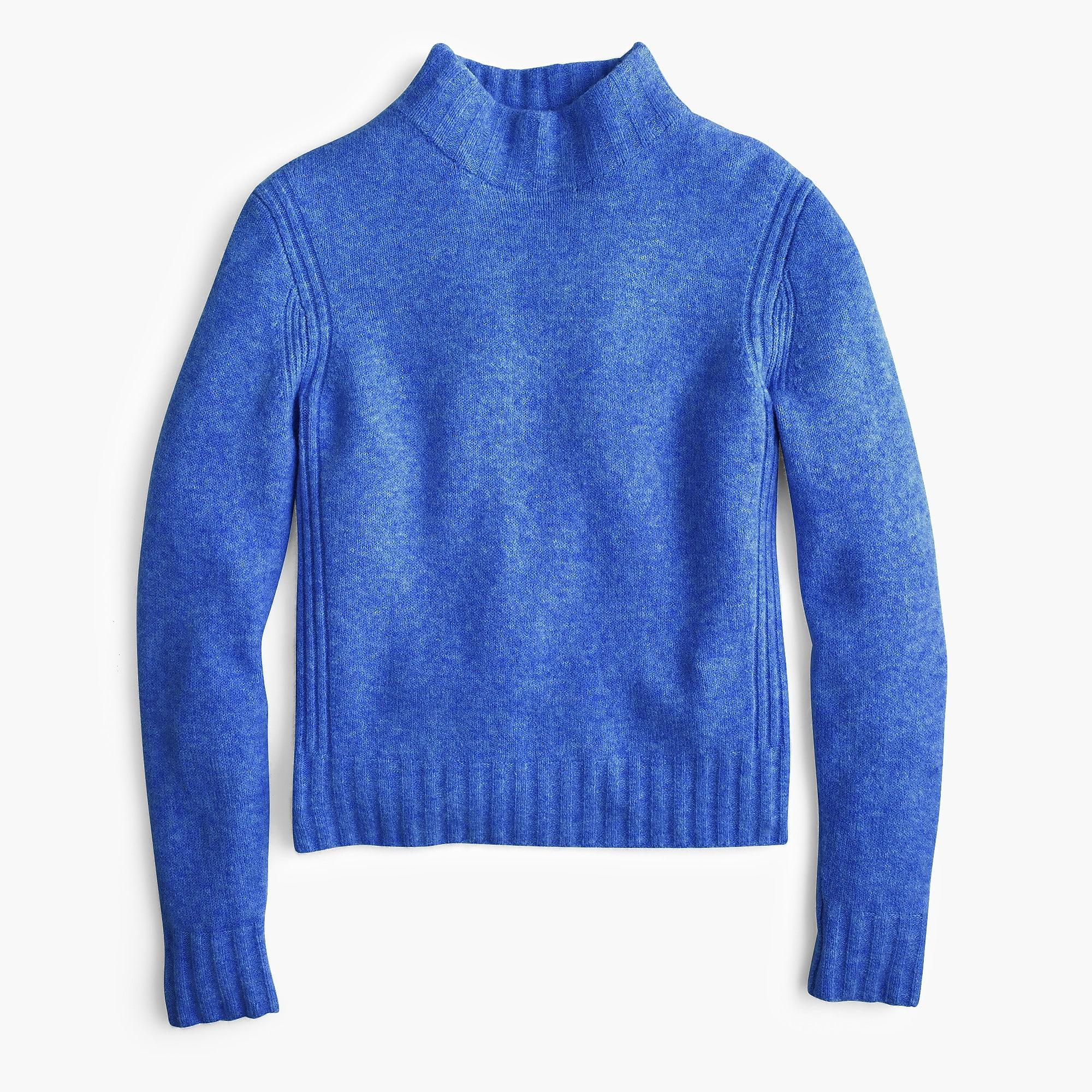 In Mockneck Lyst Blue Yarn J crew Sweater Supersoft q8EAxIREw