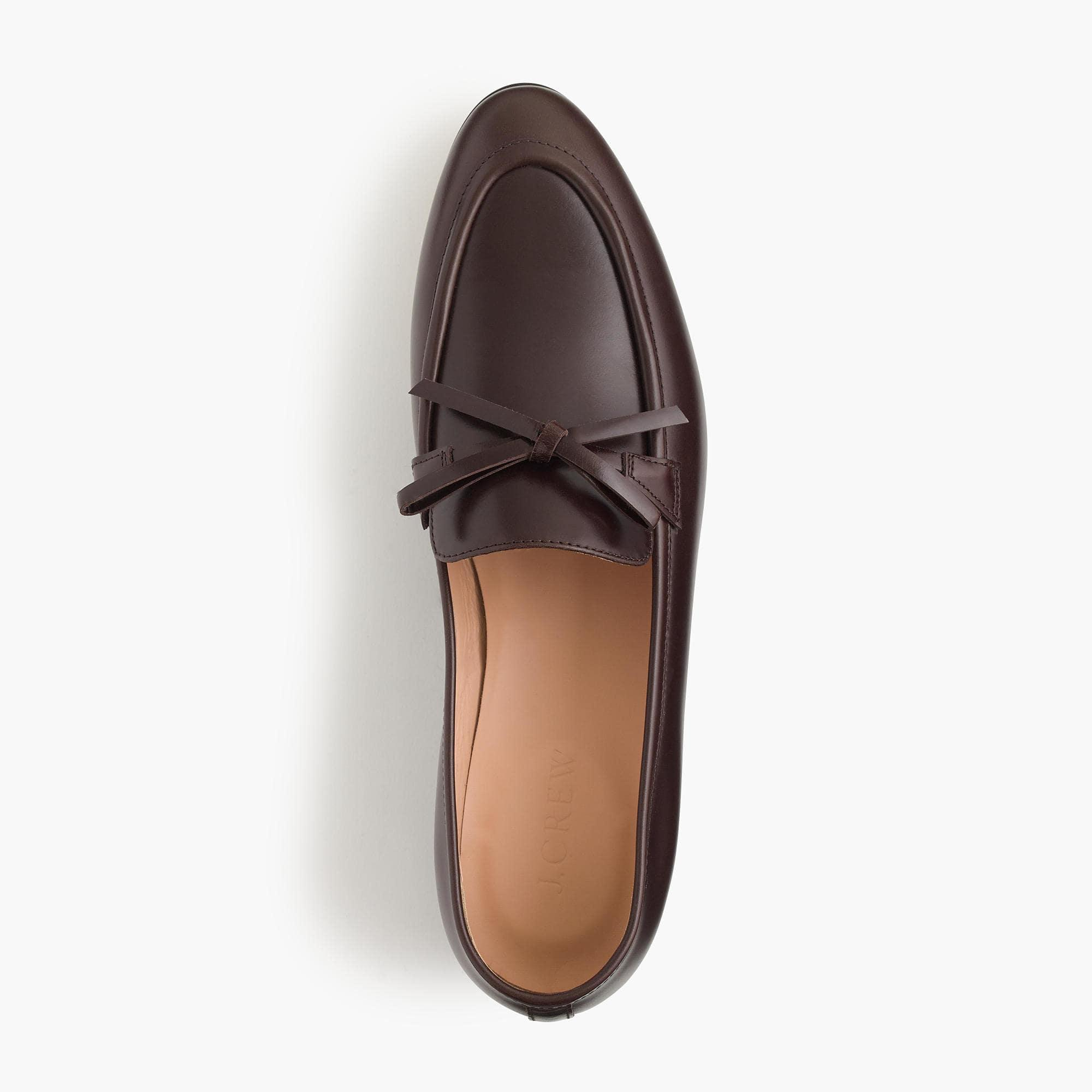 d4c78ecc3f7 J.Crew Academy Loafers In Leather in Brown - Lyst
