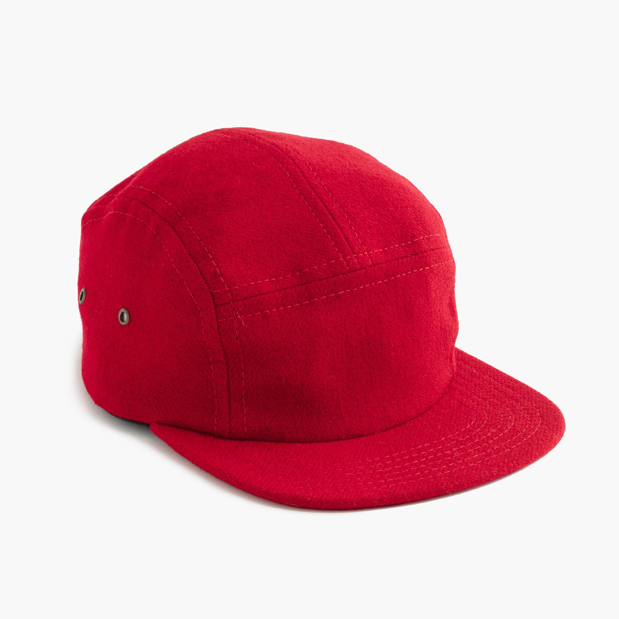 6b981675592581 Lyst - J.Crew Fairends Flannel Camp Cap in Red for Men