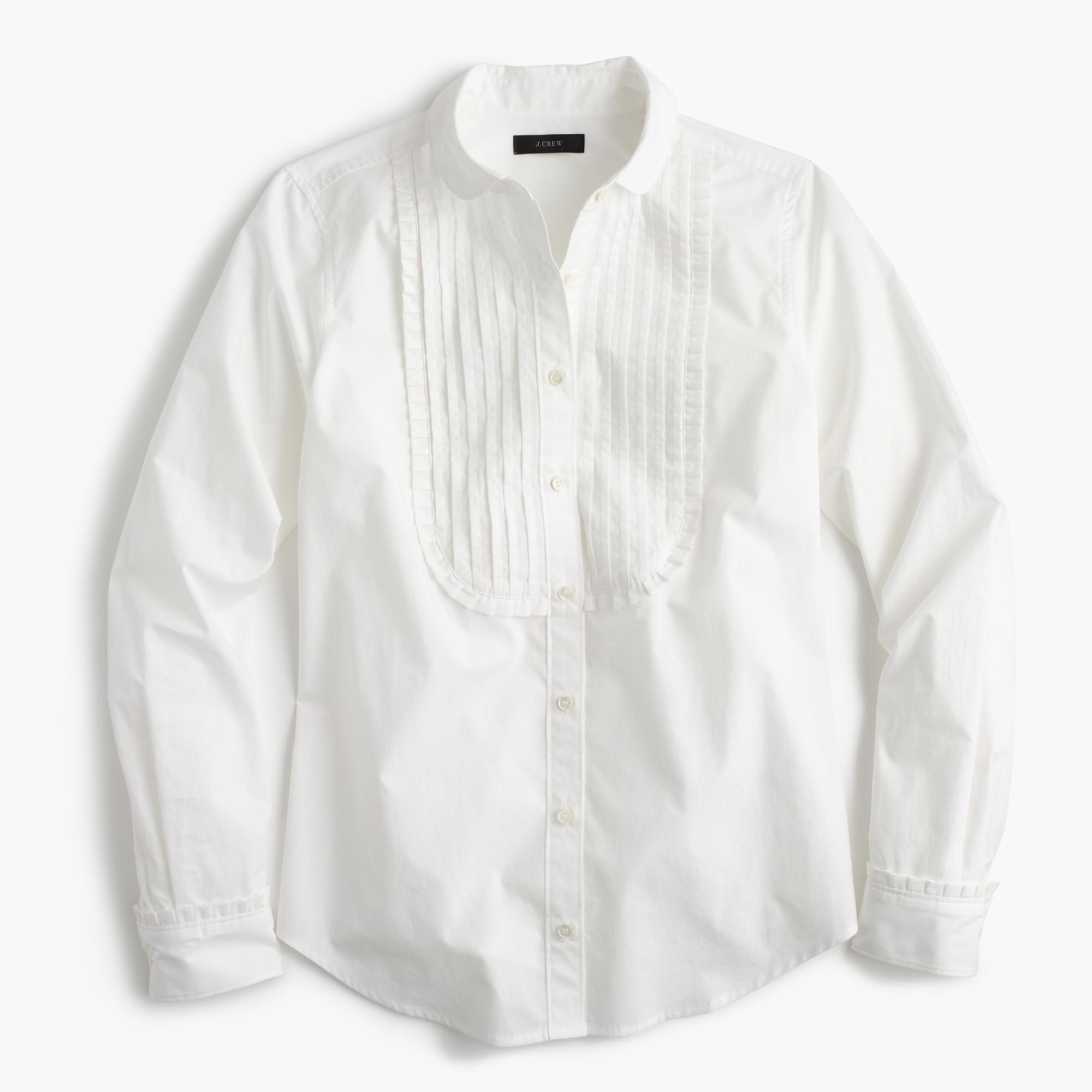 Tall Tuxedo Shirt With Ruffles In White For Men Lyst