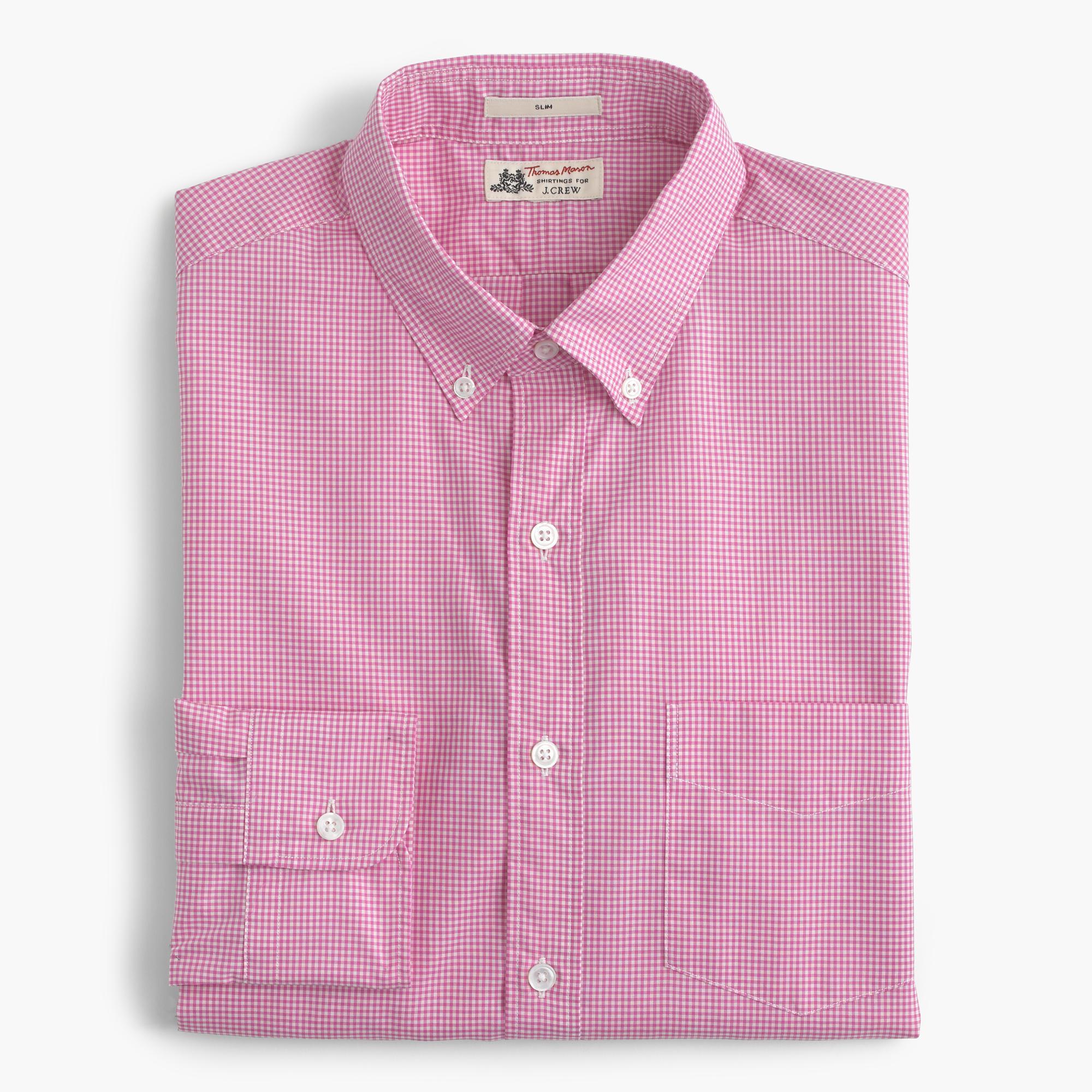 Thomas Mason Ludlow Shirt In Pink Microgingham In
