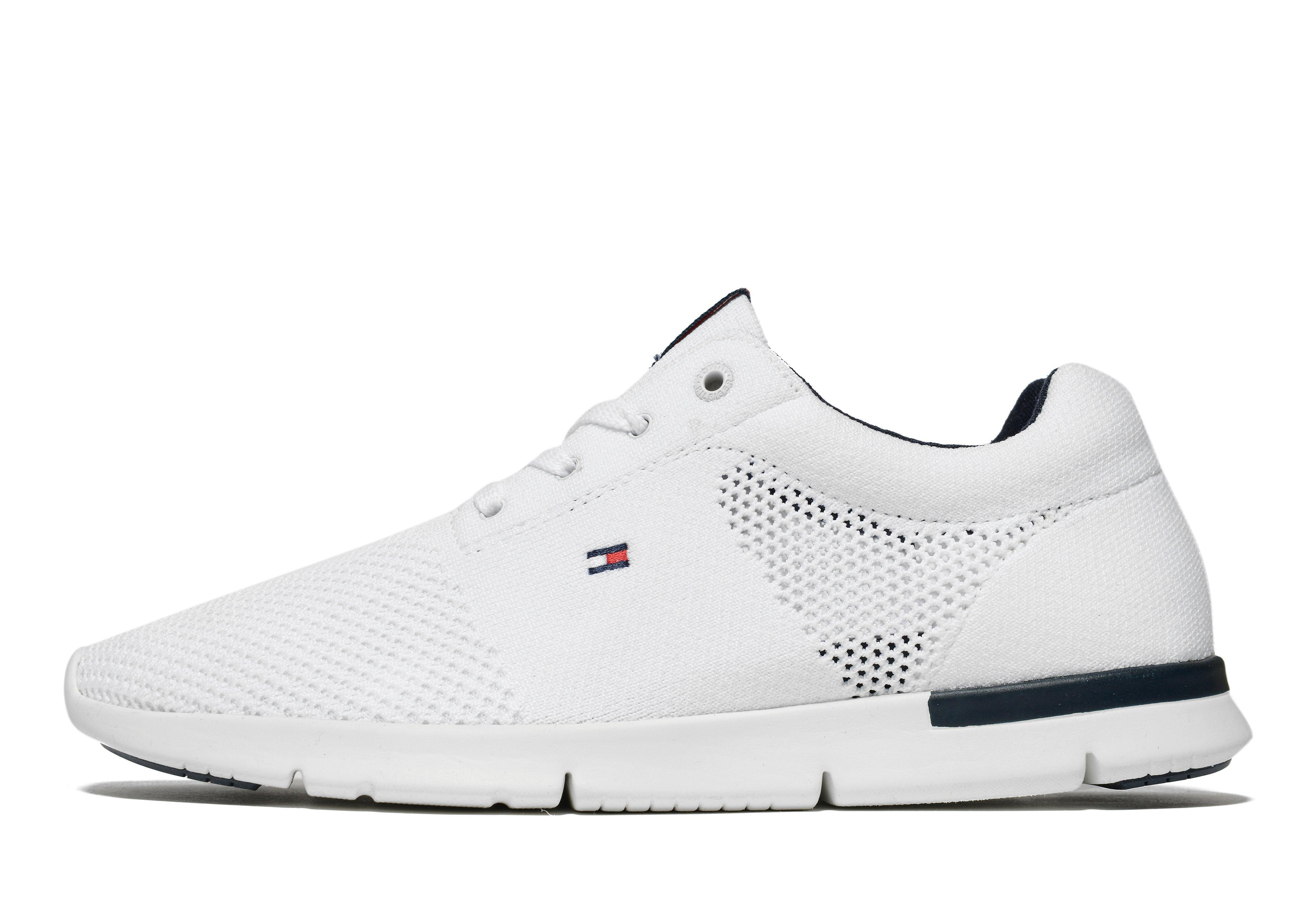 3e12d898 Tommy Hilfiger Tobias Knit Trainer in White - Lyst