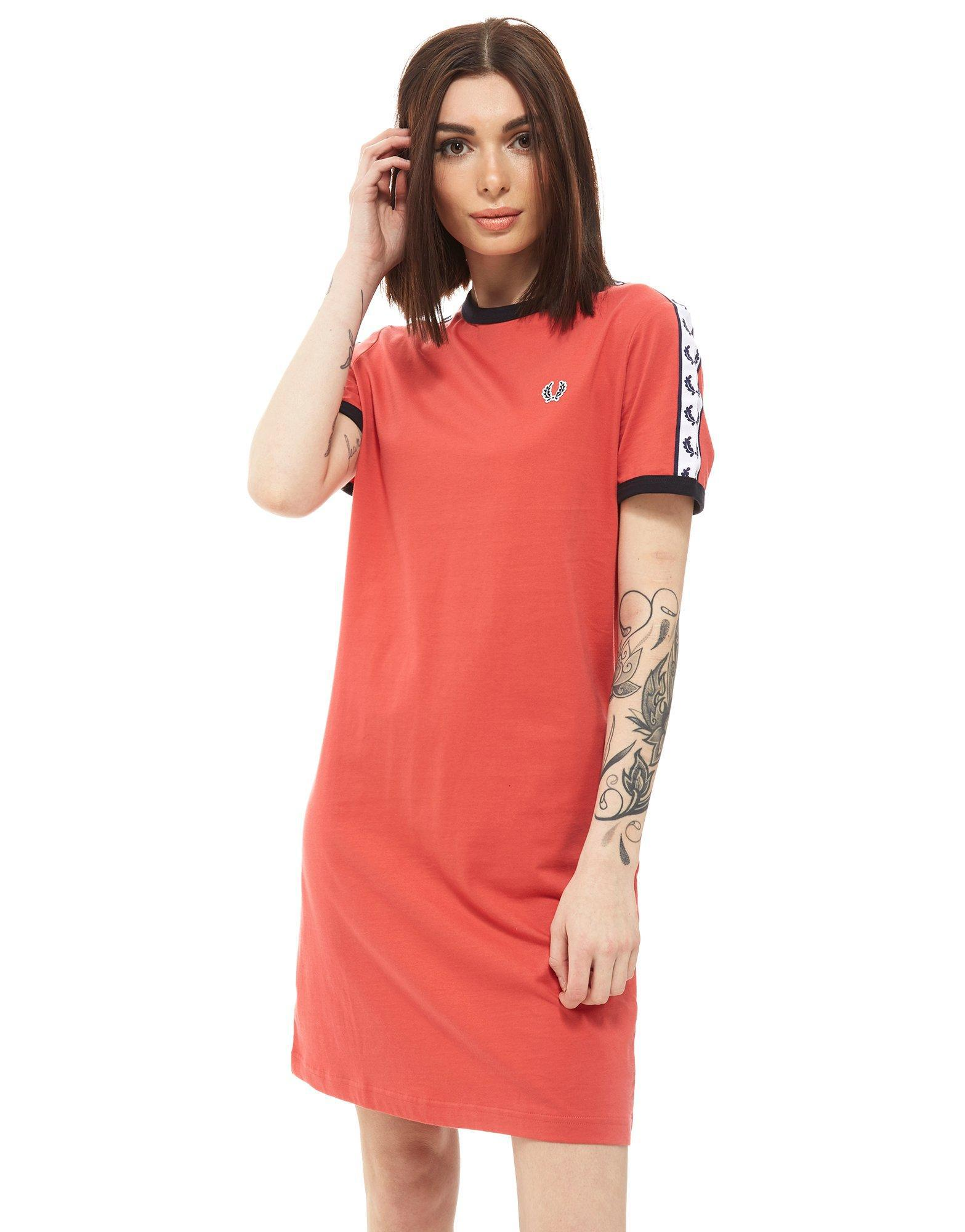 64ae3bcfb197 Fred Perry Tape Ringer Dress in Red - Lyst