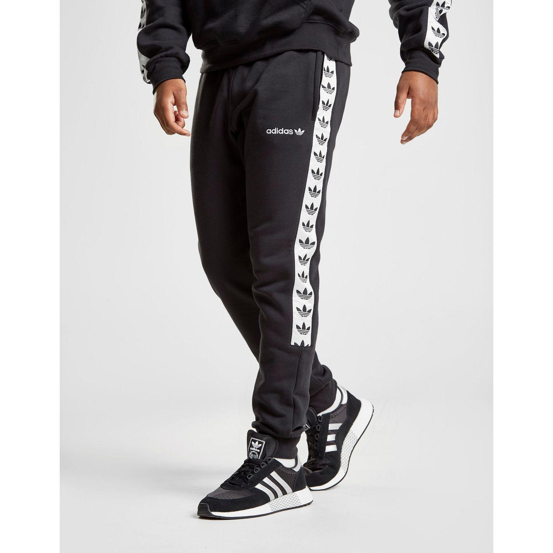 adidas Originals Tape Fleece Track Pants in Black for Men - Lyst 7cf8f03a0