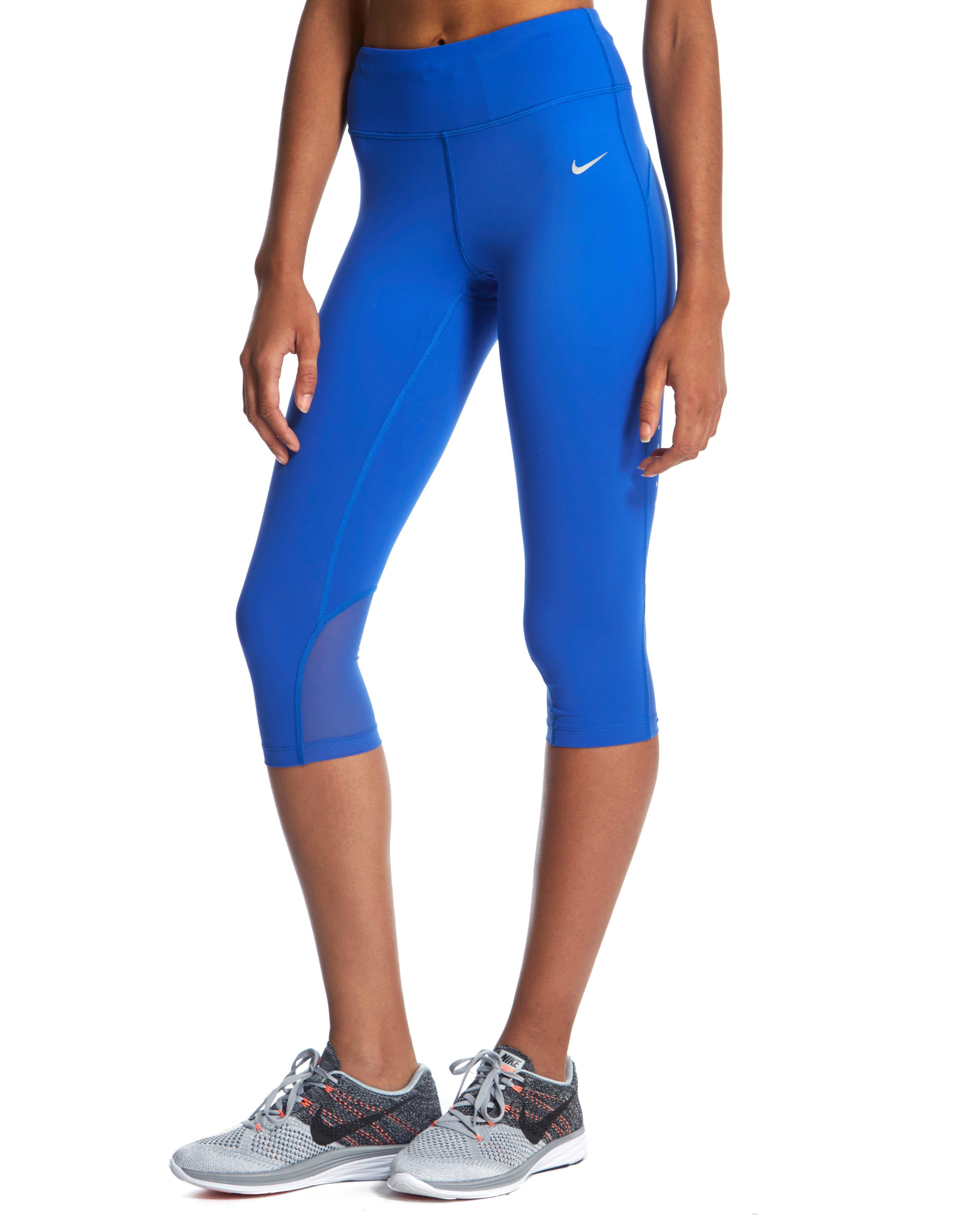 2bd3da78db74cc Nike Epic Lux Capri in Blue - Lyst