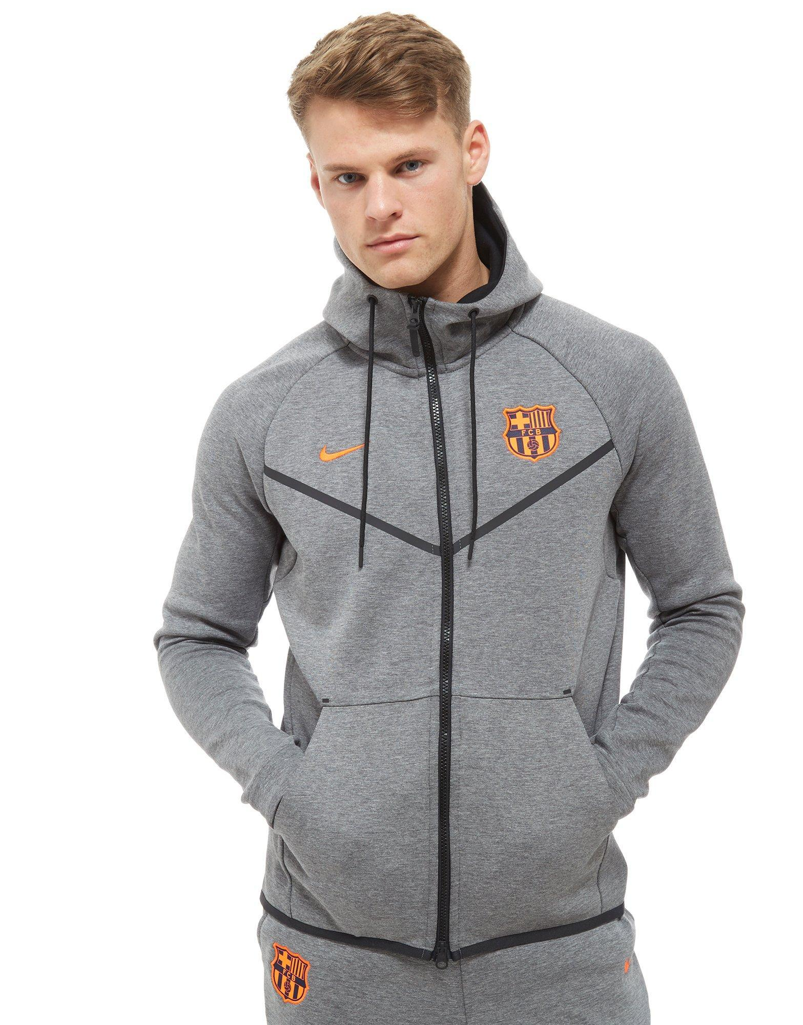 1d158d9d7 Nike Fc Barcelona Tech Hoodie in Gray for Men - Lyst