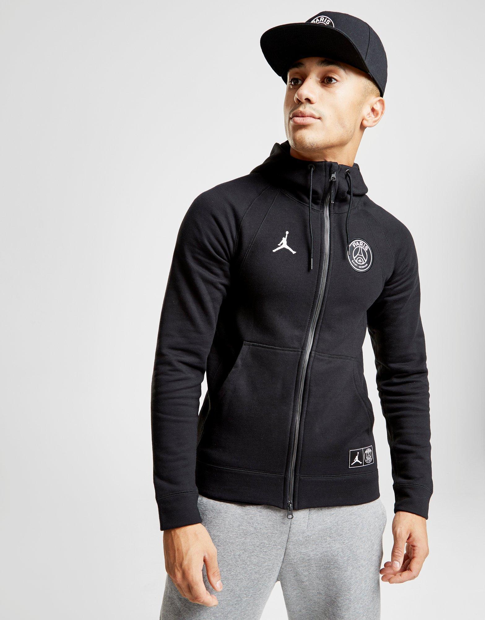 c79791ae2 Nike X Paris Saint Germain Wings Full Zip Hoodie in Black for Men - Lyst