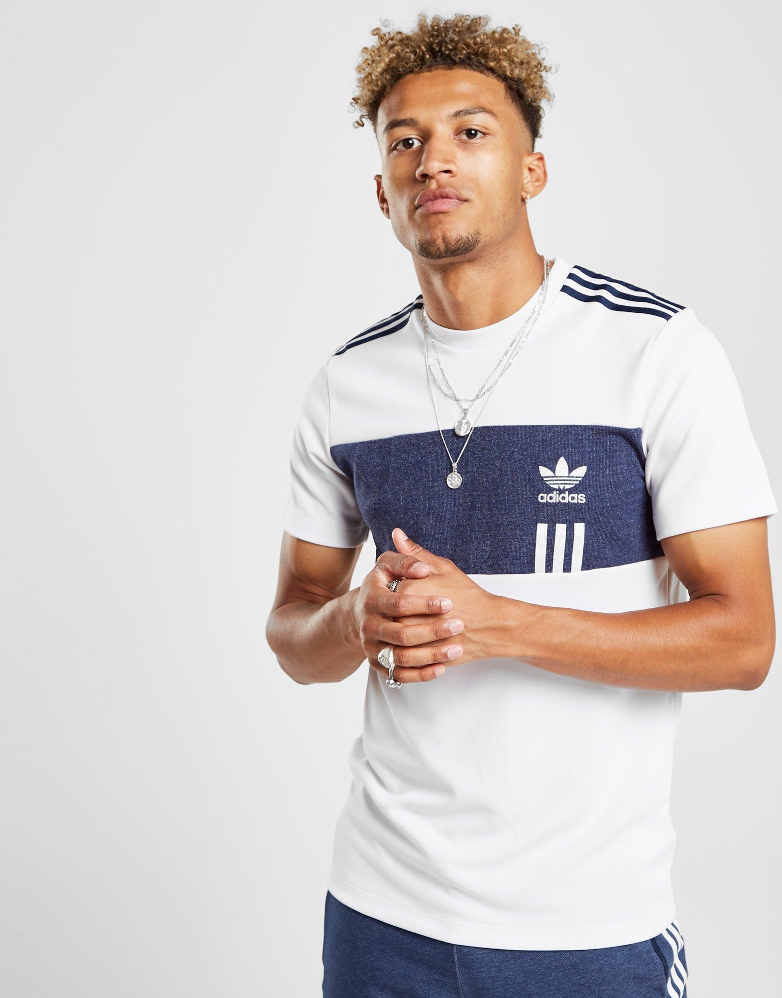 e9580ad7f adidas Originals Id96 Denim Poly T-shirt in Blue for Men - Lyst